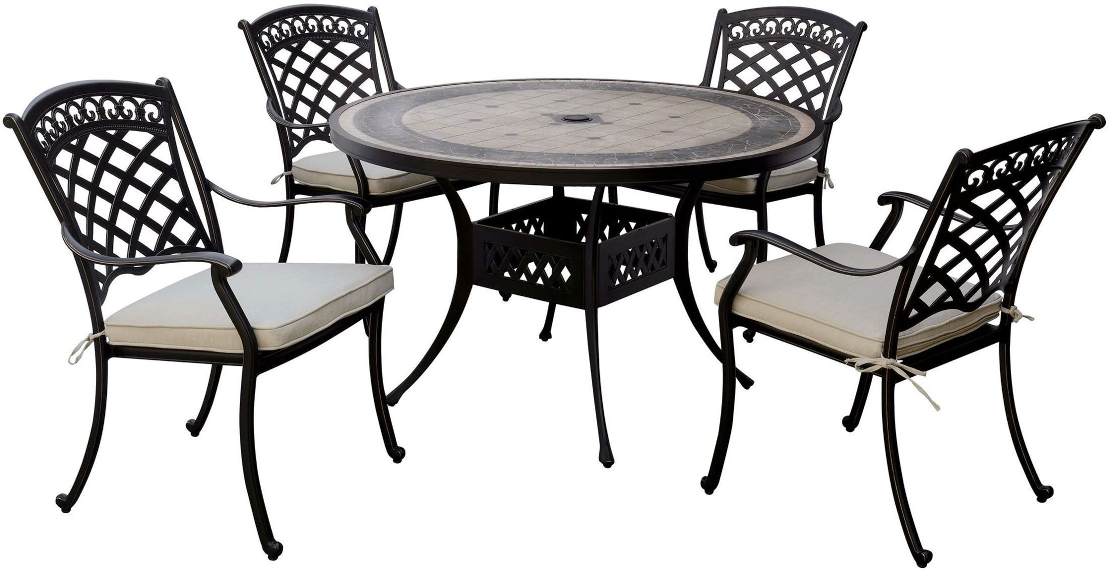 Charissa Antique Black Round Dining Table From Furniture Of America Coleman Furniture