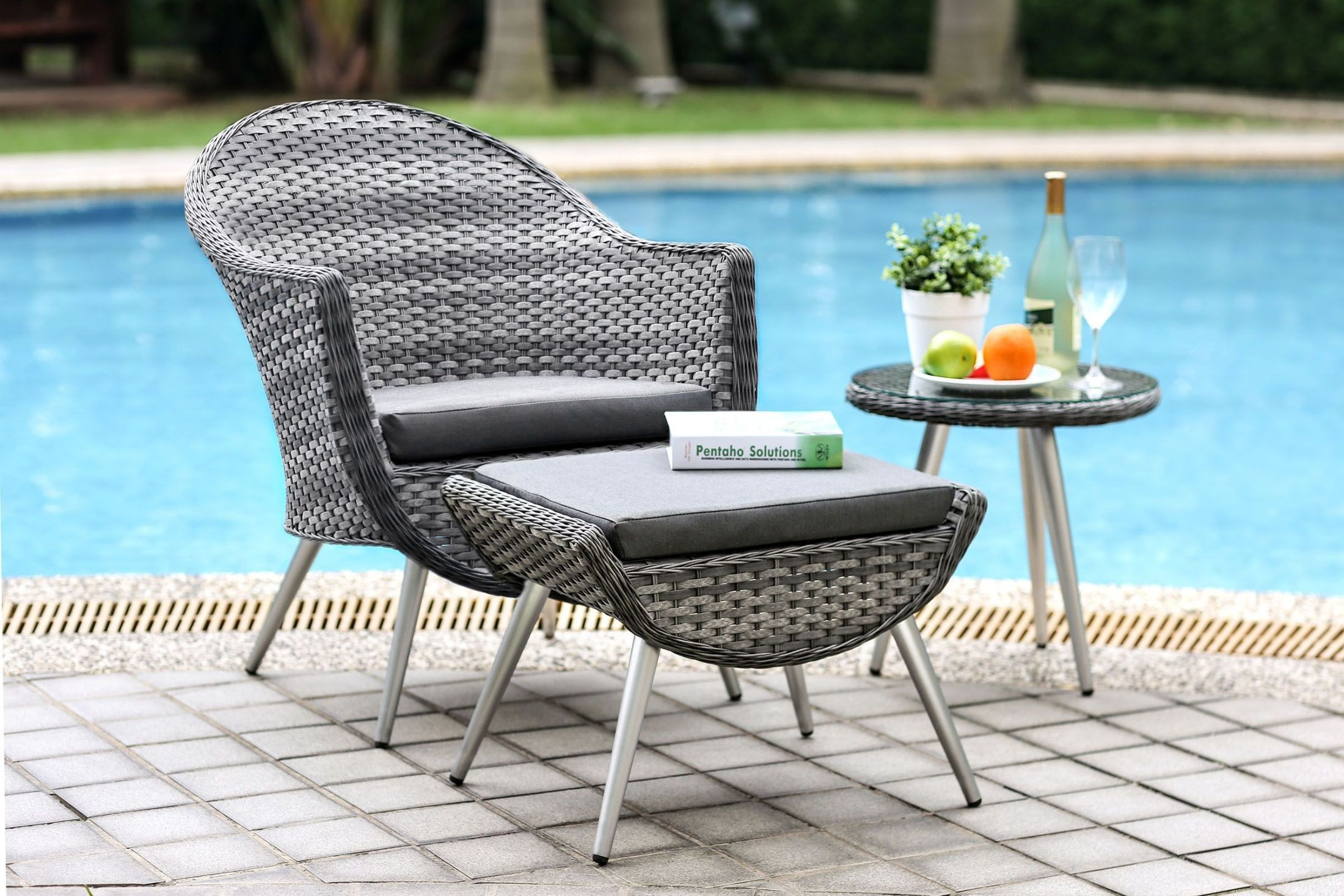 Leena Gray 3 Piece Patio Seating Set from Furniture of America ...