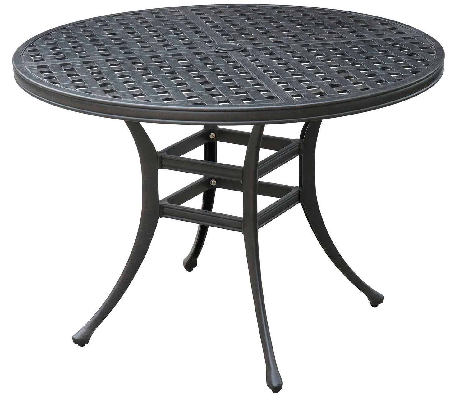 Chiara II Dark Gray Round Patio Dining Table From Furniture Of America Cole