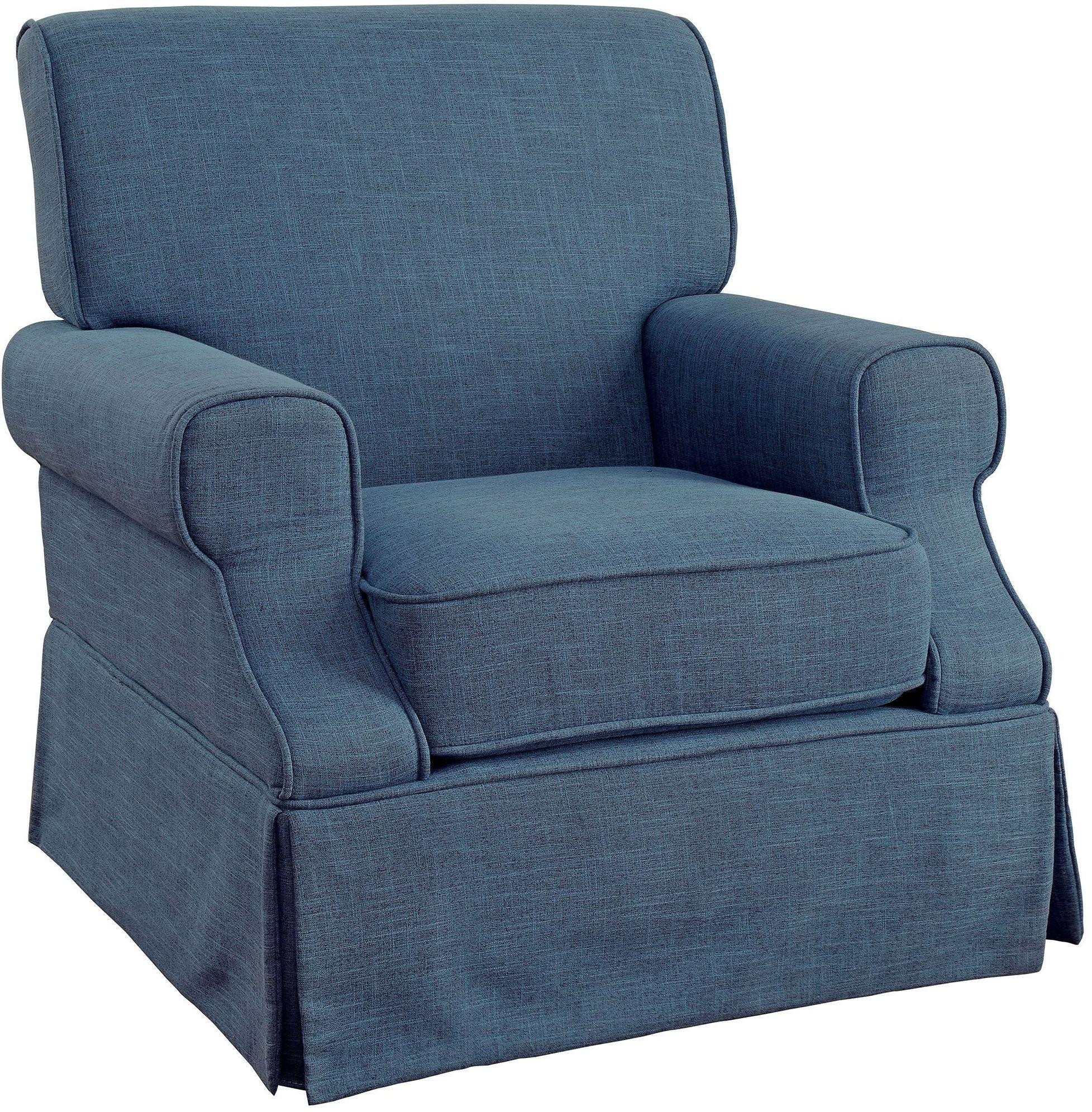 Leela Blue 360 Swivel Glider Amp Rocker Chair From Furniture