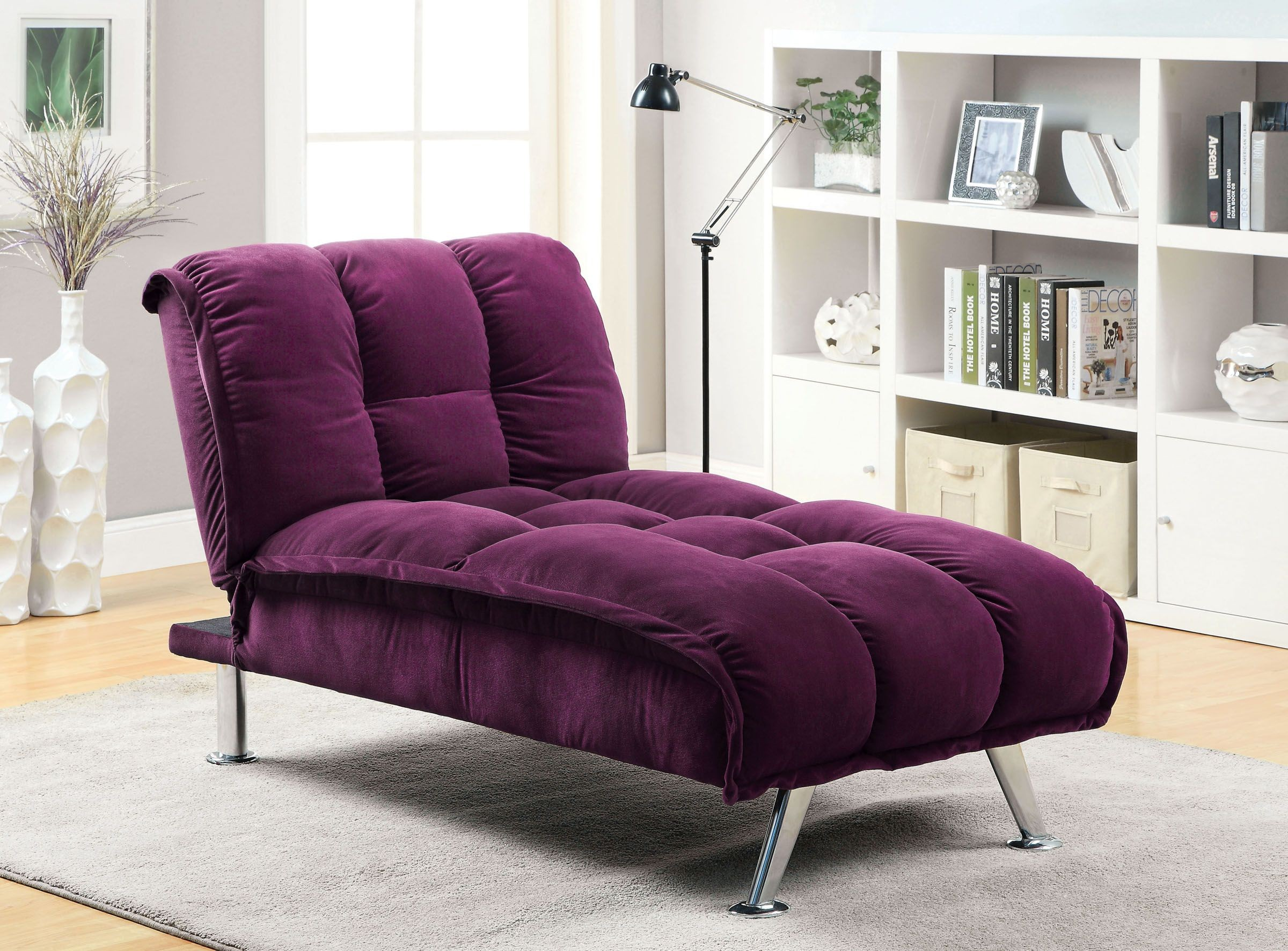 Maybelle Purple Living Room Set, CM2908PR, Furniture Of