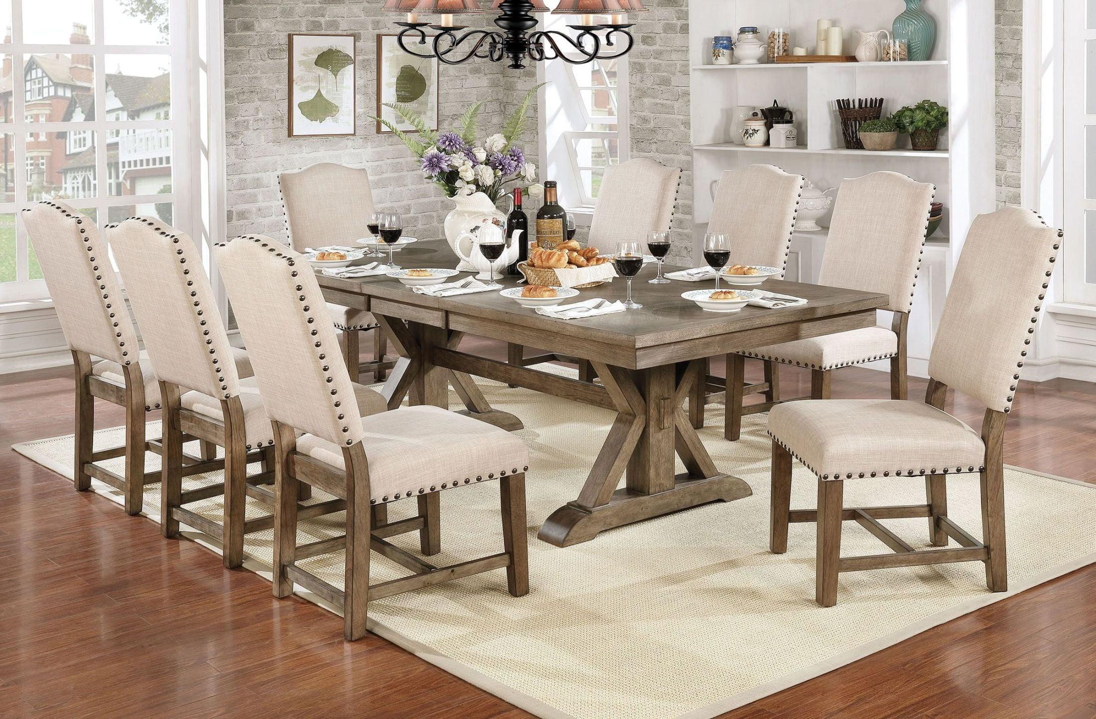 Julia Light Oak Extendable Dining Room Set from Furniture  : cm3014t 11 from colemanfurniture.com size 2200 x 1445 jpeg 669kB
