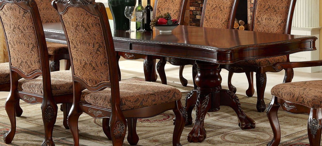 Cromwell Antique Cherry Formal Dining Room Set From Furniture Of America (CM3103T-TABLE