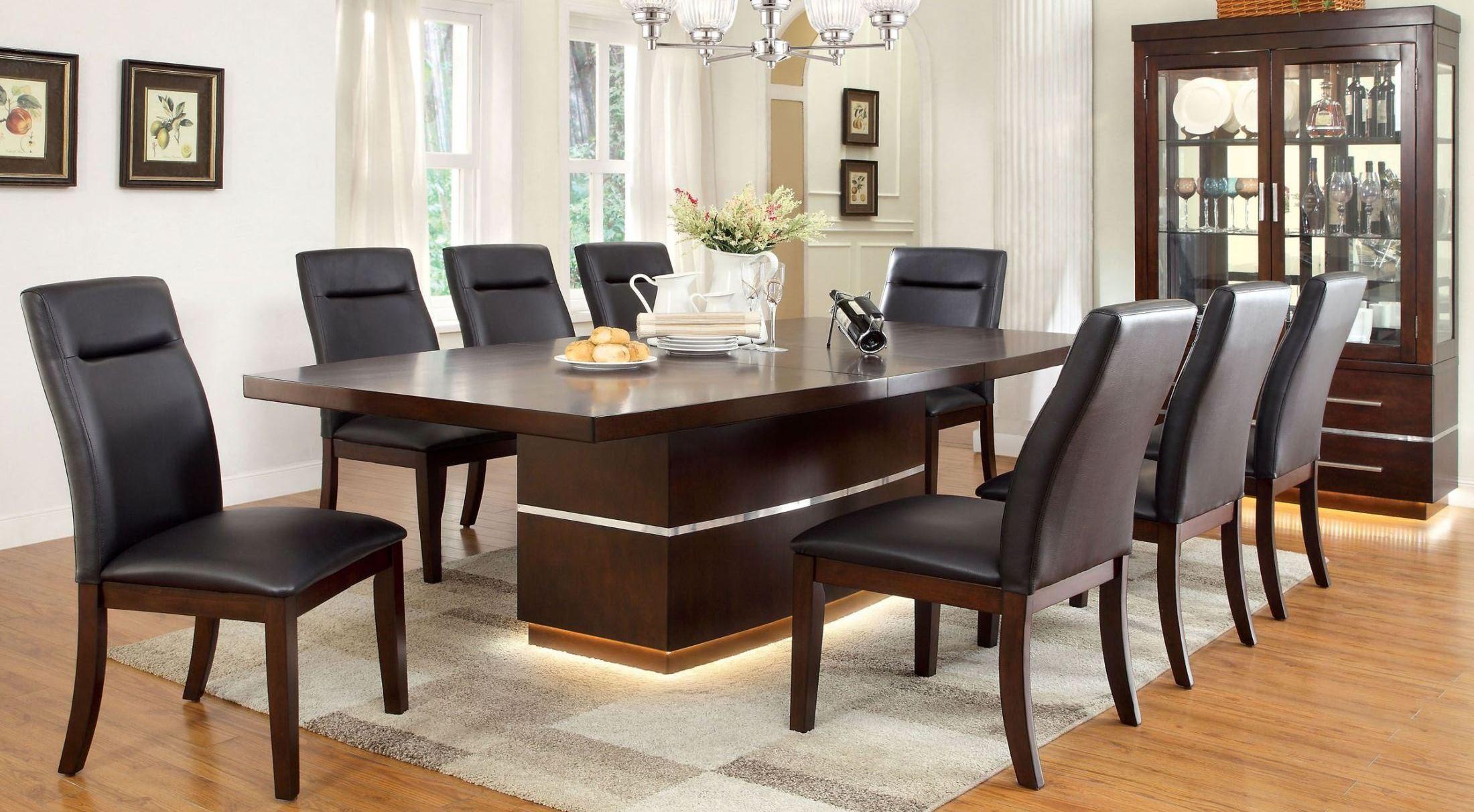 lawrence extendable dining room set from furniture of. Black Bedroom Furniture Sets. Home Design Ideas