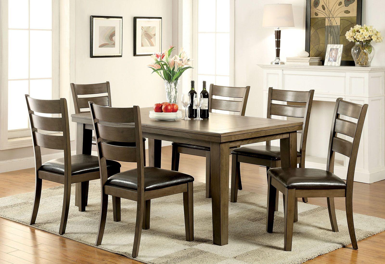 Imelda Gray Rectangular Dining Room Set From Furniture Of