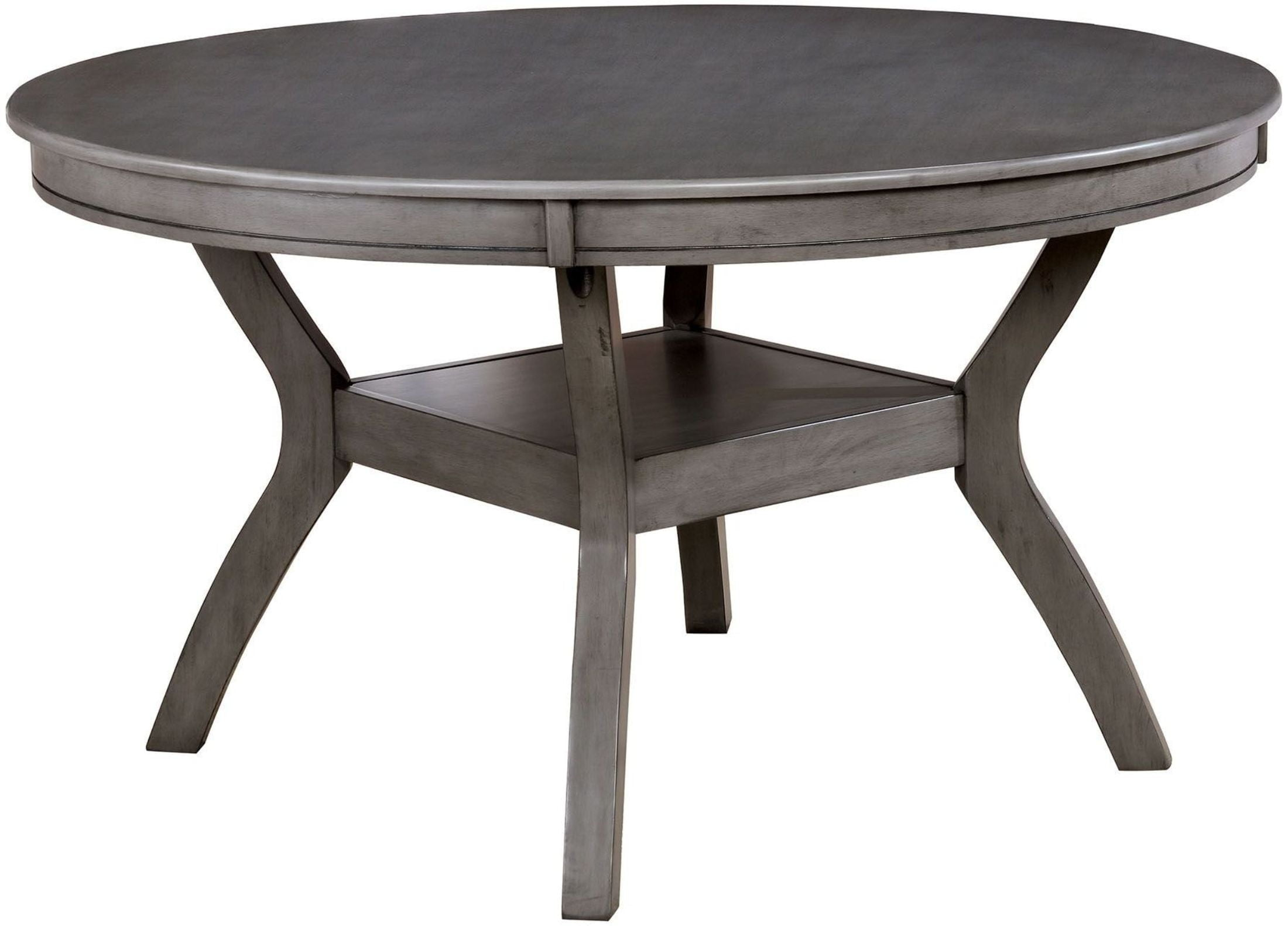 Juniper Gray Round Dining Table from Furniture of America ...