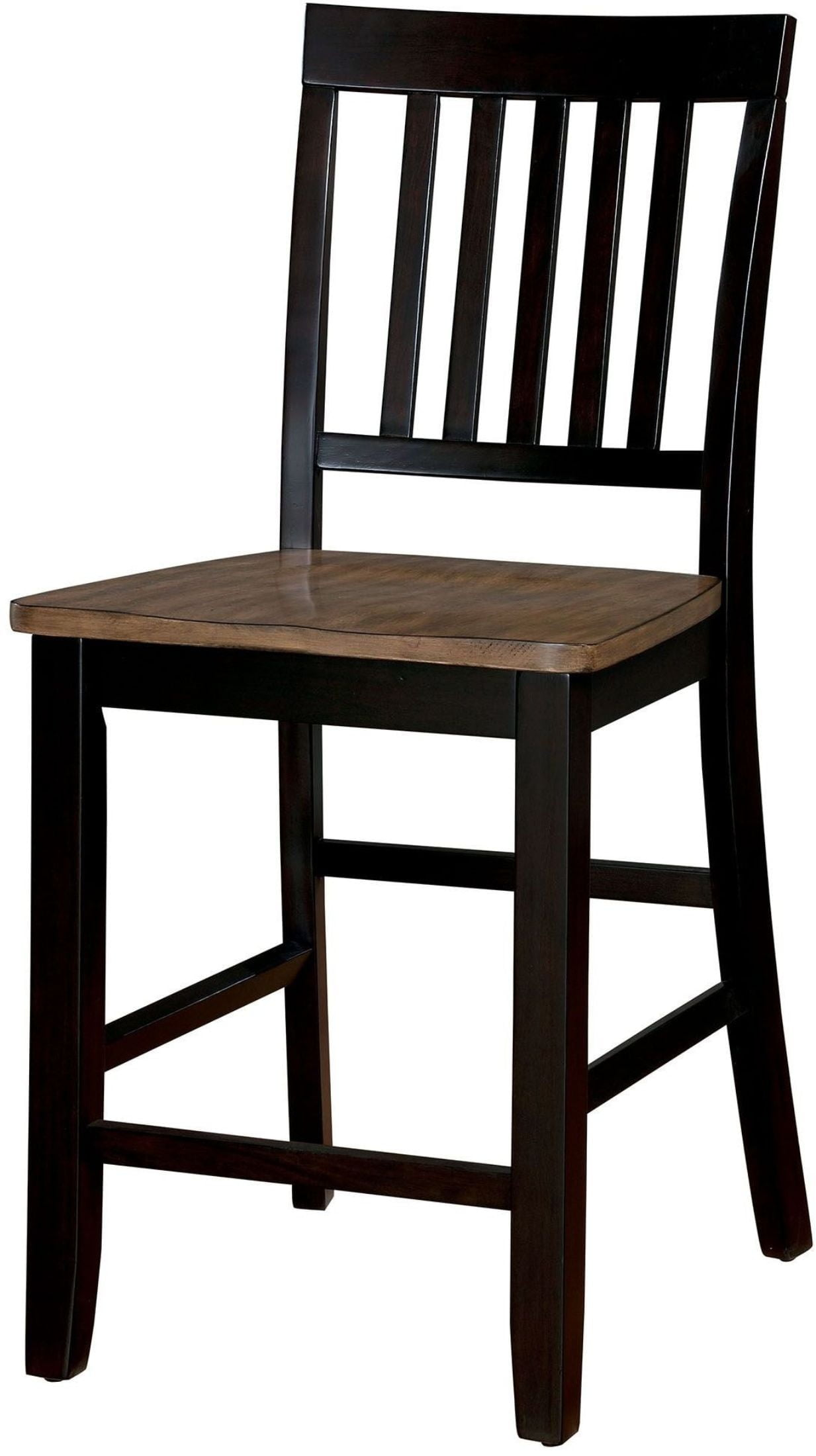 Izidora Rustic Oak And Espresso Counter Height Chair Set Of 2 From  # Muebles Luan Arbo