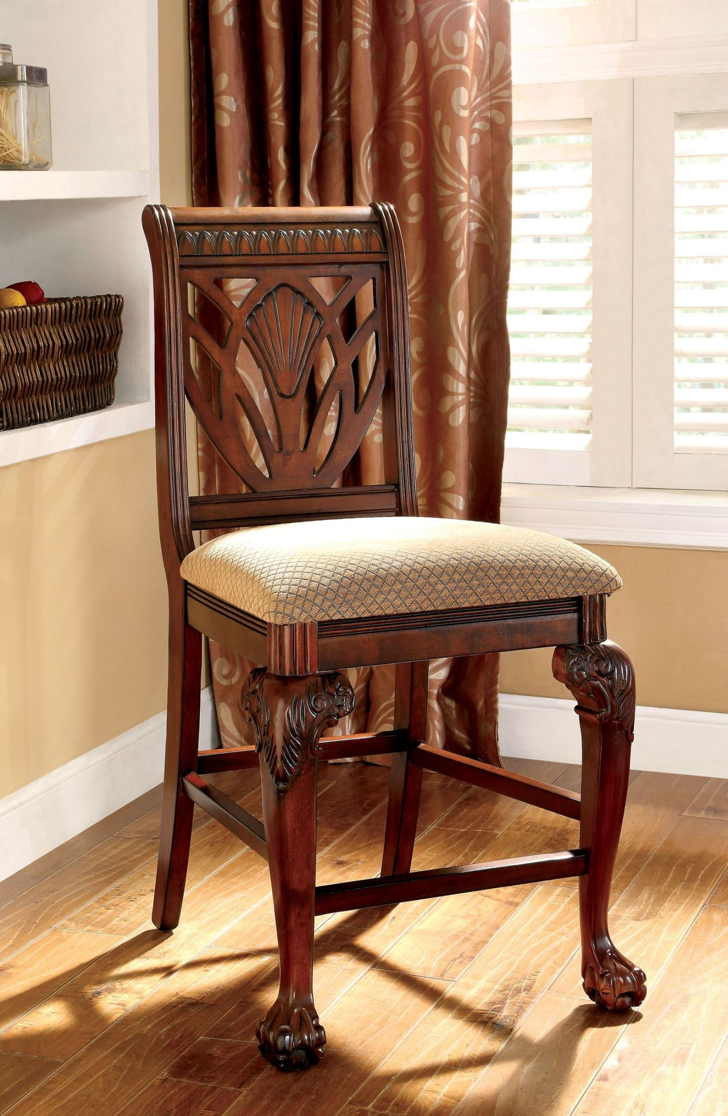 Petersburg Ii Cherry Counter Height Chair Set Of 2 From