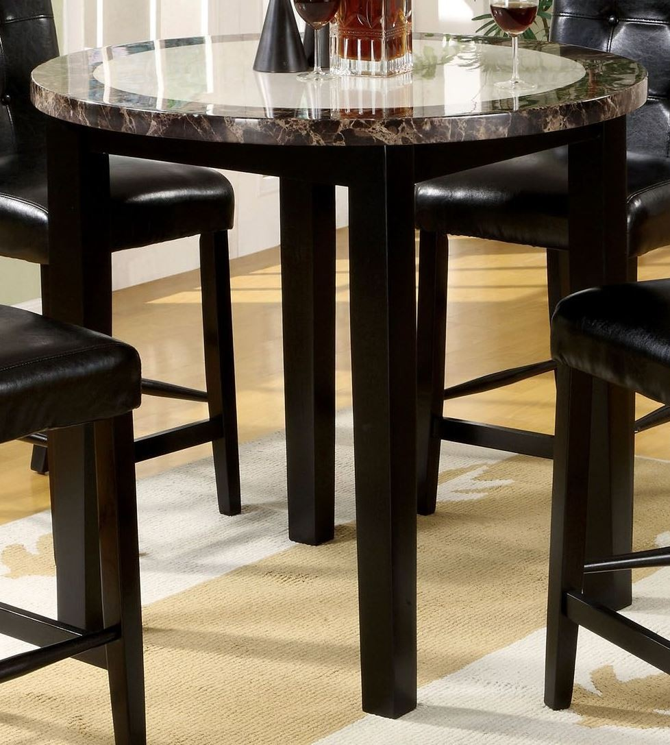 """Round Counter Top: Atlas IV 40"""" Faux Marble Round Counter Height Table From"""