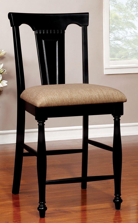 sabrina cherry black counter height dining room set cm3199bc pt furniture of america. Black Bedroom Furniture Sets. Home Design Ideas