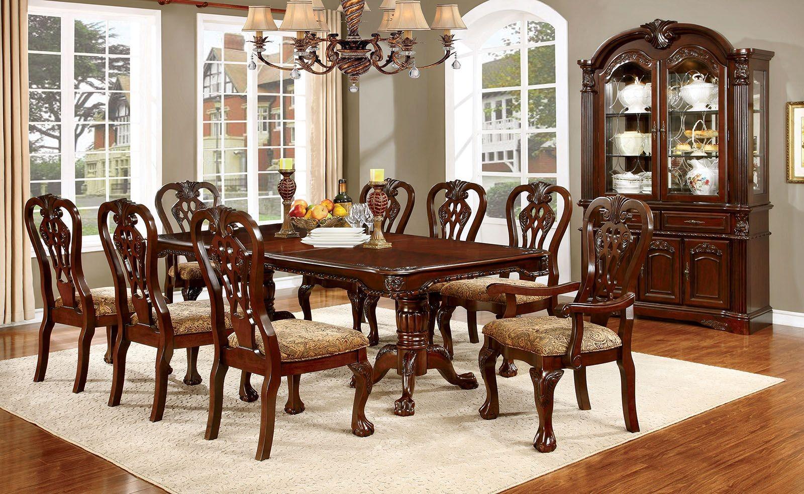 Elana Cherry Extendable Rectangular Dining Room Set