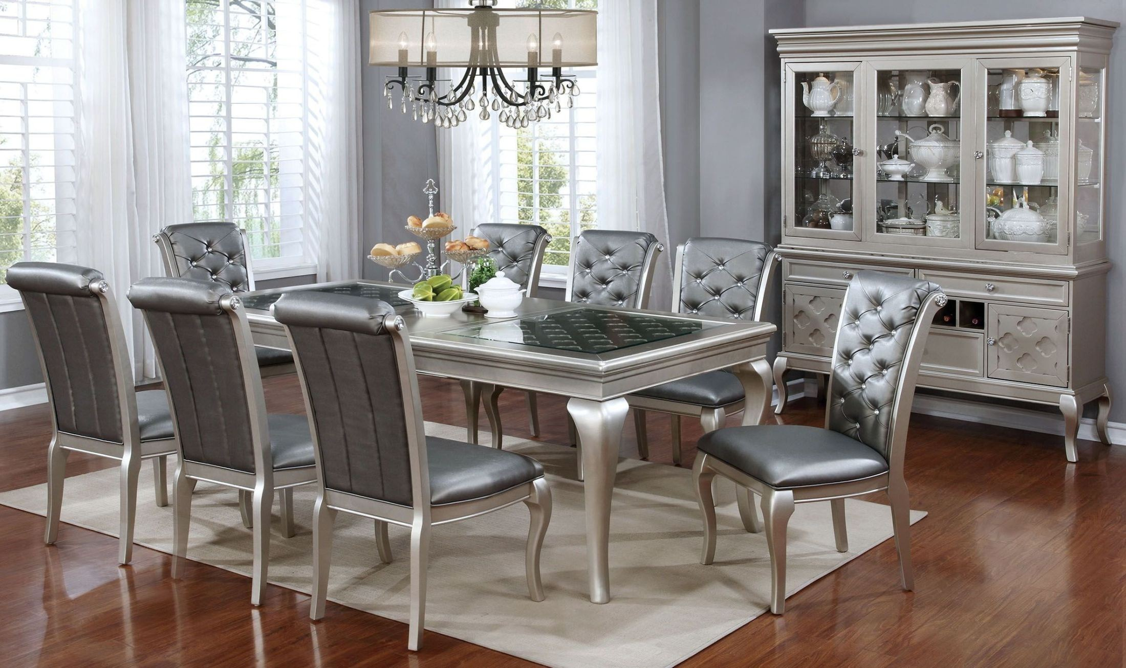 Amina Champagne 66 Quot Rectangular Dining Room Set From