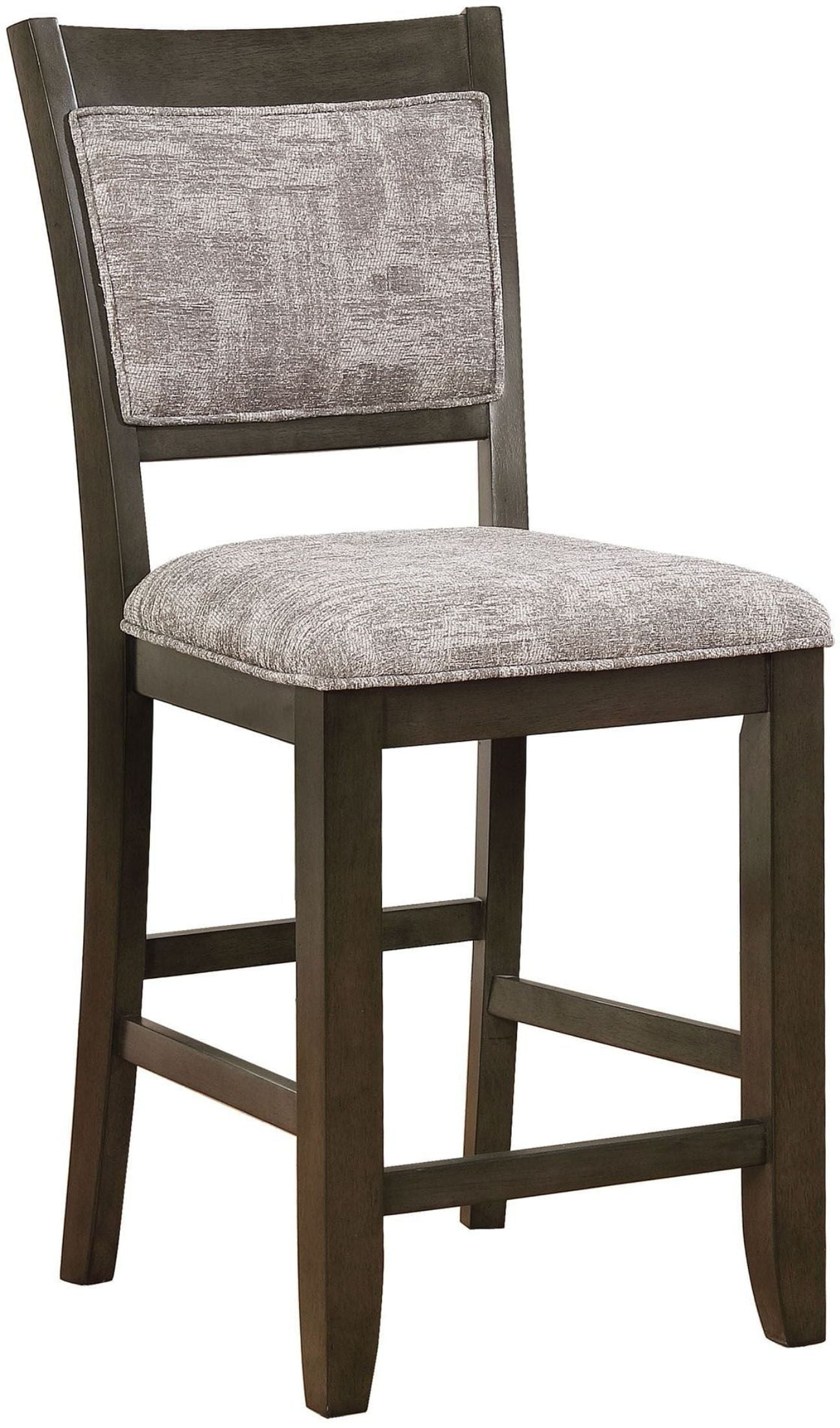 Tollerson Dark Walnut And Light Gray Counter Height Chair Set Of 2  # Muebles Luan Arbo