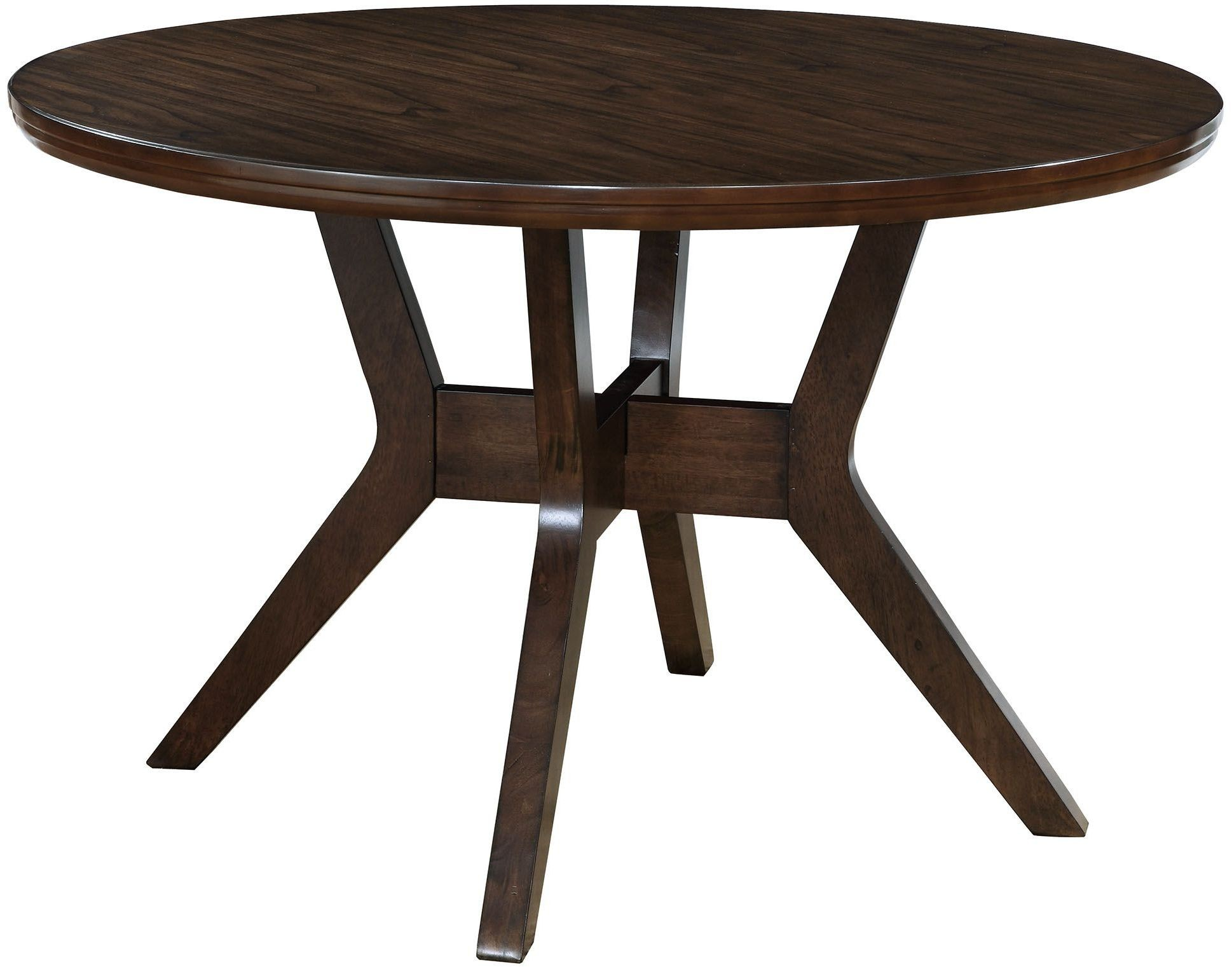 abelone walnut round dining table from furniture of america coleman furniture. Black Bedroom Furniture Sets. Home Design Ideas