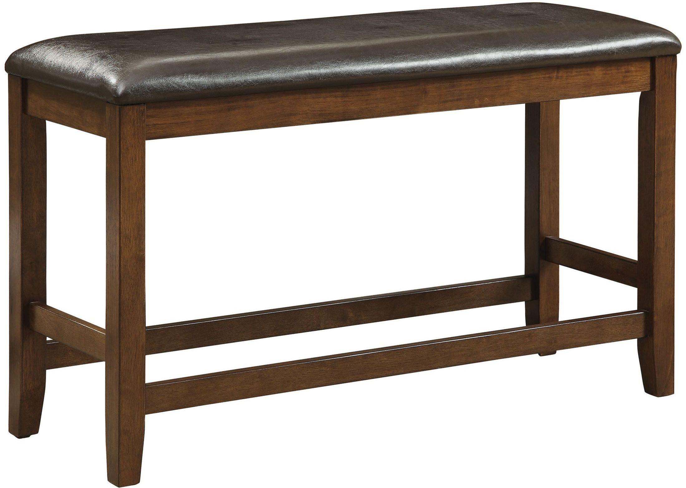 Brockton ii rustic oak counter height bench from furniture Oak bench