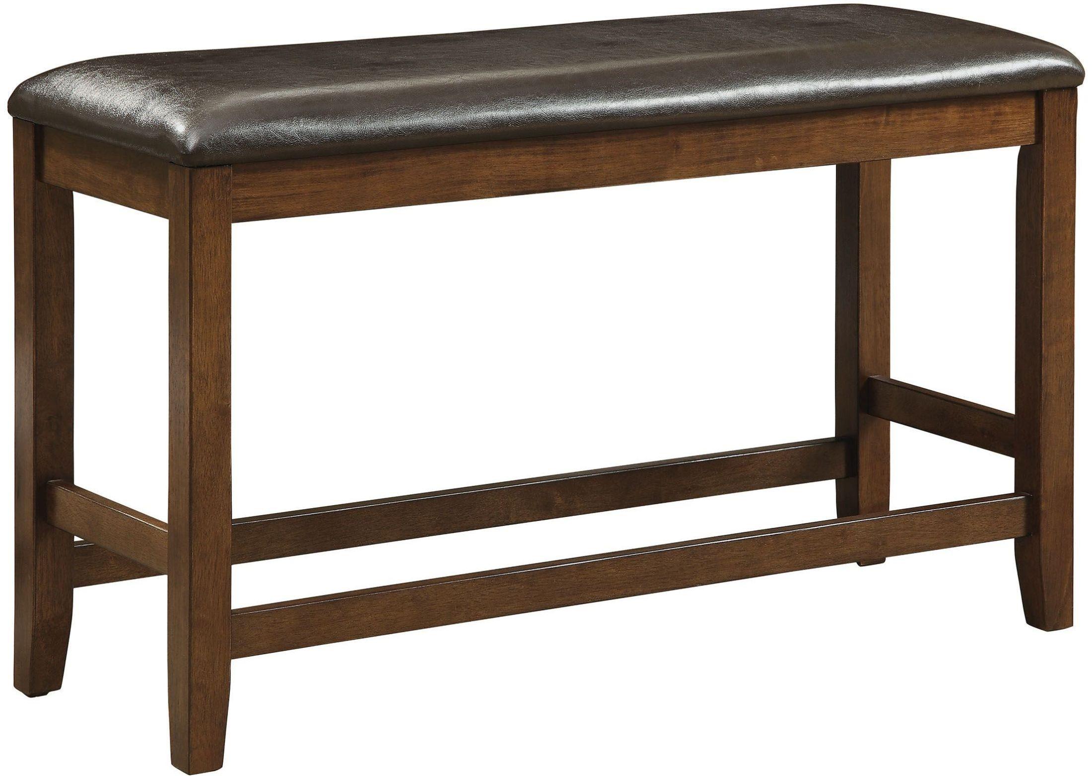 Brockton Ii Rustic Oak Counter Height Bench From Furniture Of America Coleman Furniture