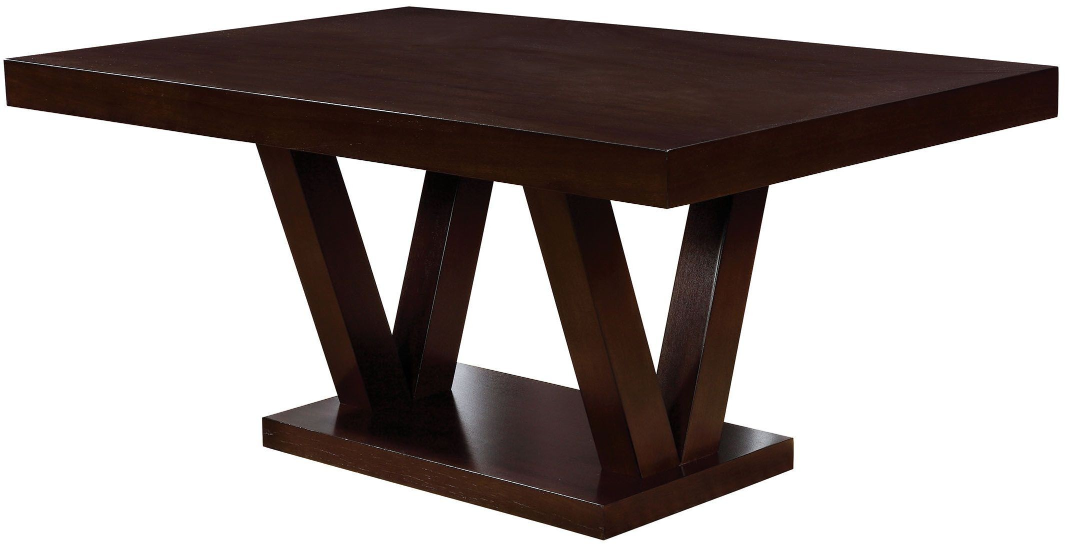 Belinda i espresso rectangular dining table from furniture for Espresso dining table