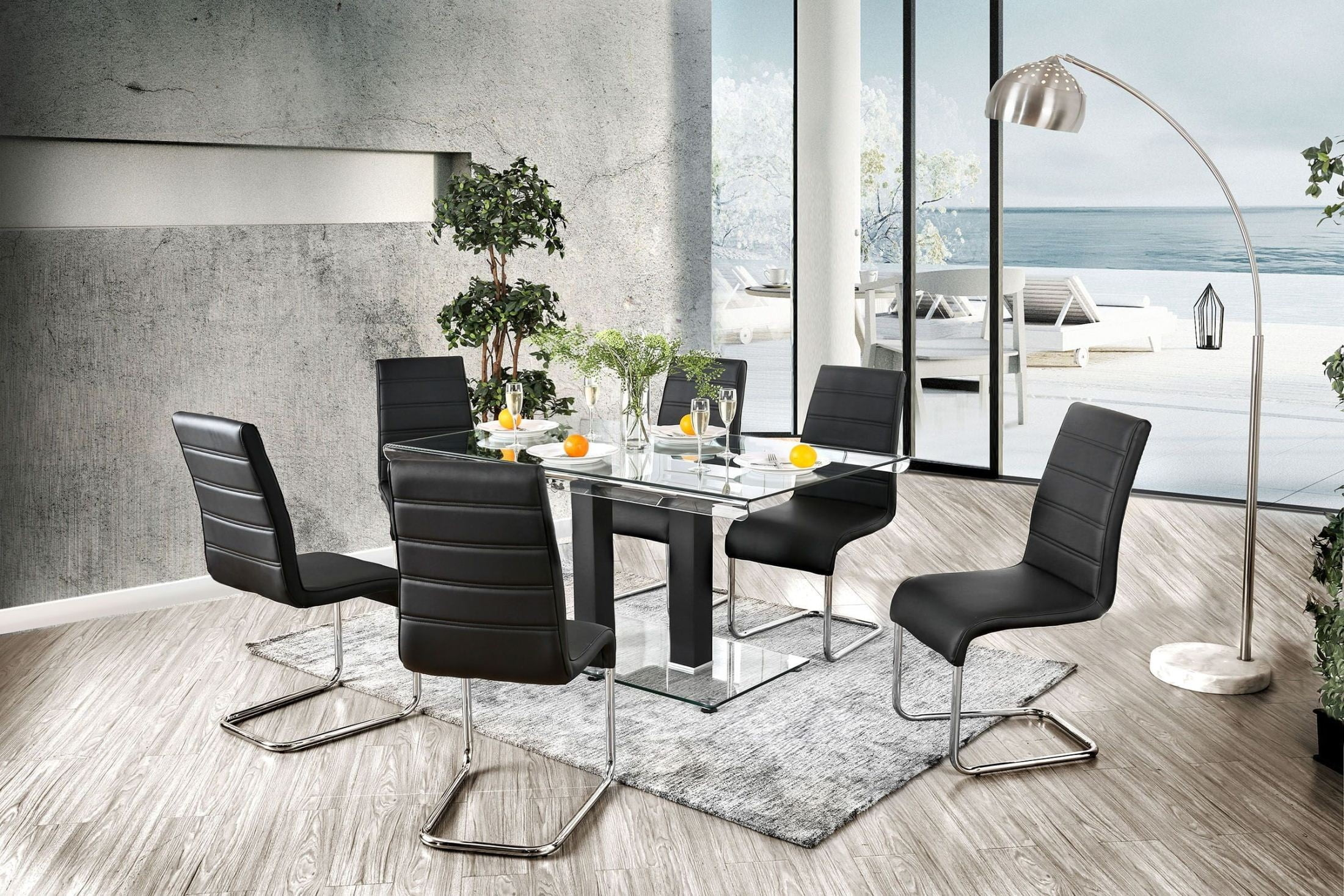 Richfield Black Dining Room Set From Furniture Of America | Coleman  Furniture