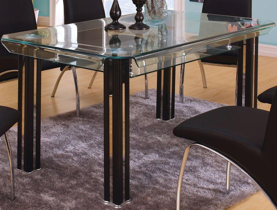 berthold black rectangular dining table from furniture of america coleman furniture. Black Bedroom Furniture Sets. Home Design Ideas