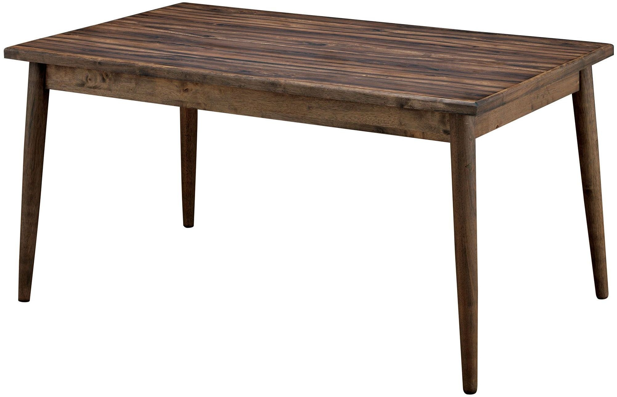 Eindride brown rectangular dining table from furniture of america coleman furniture - Rectangular dining table for 6 ...
