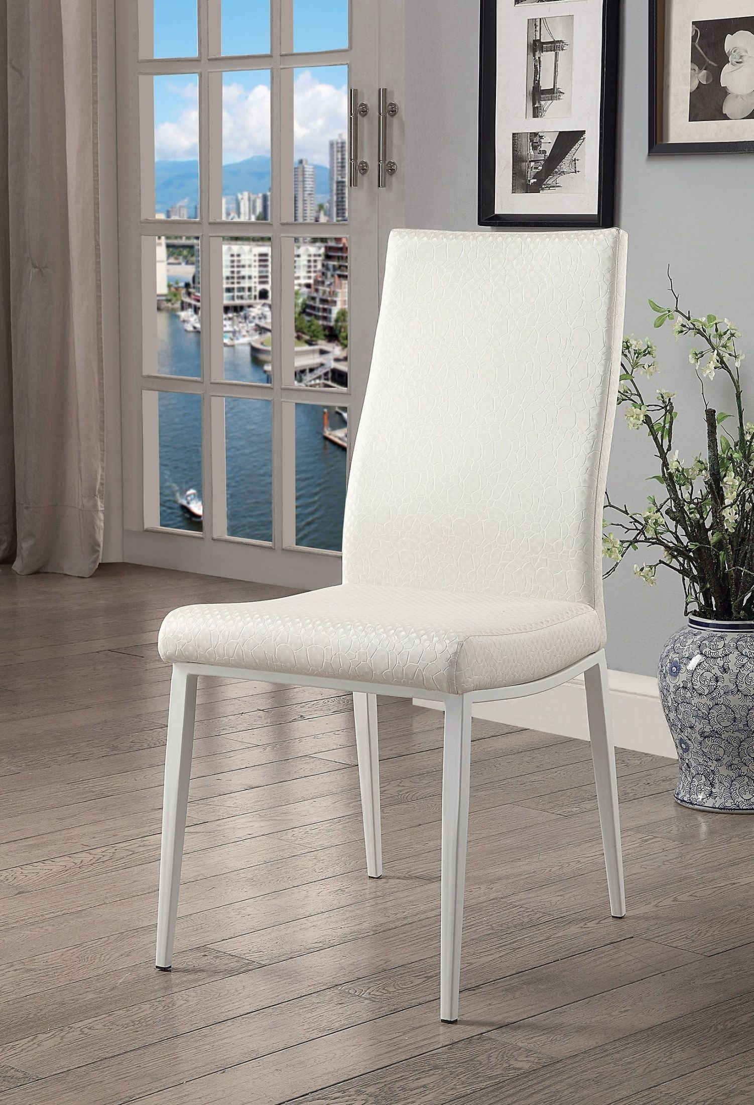 Miriam White Side Chair Set Of 2 From Furniture Of America  # Muebles Luan Arbo