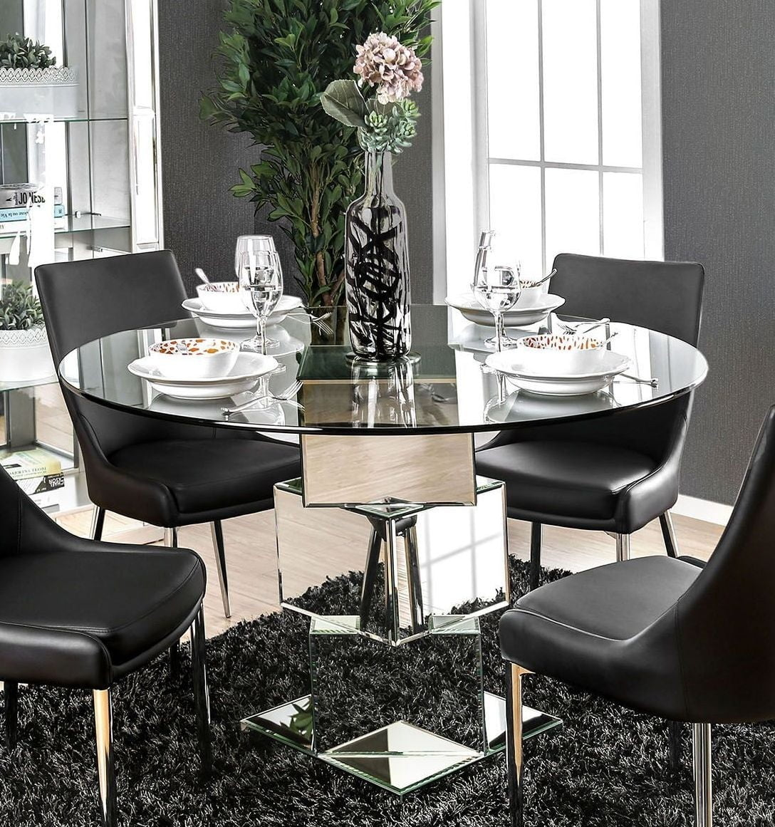 izzy silver dining table - Silver Dining Table