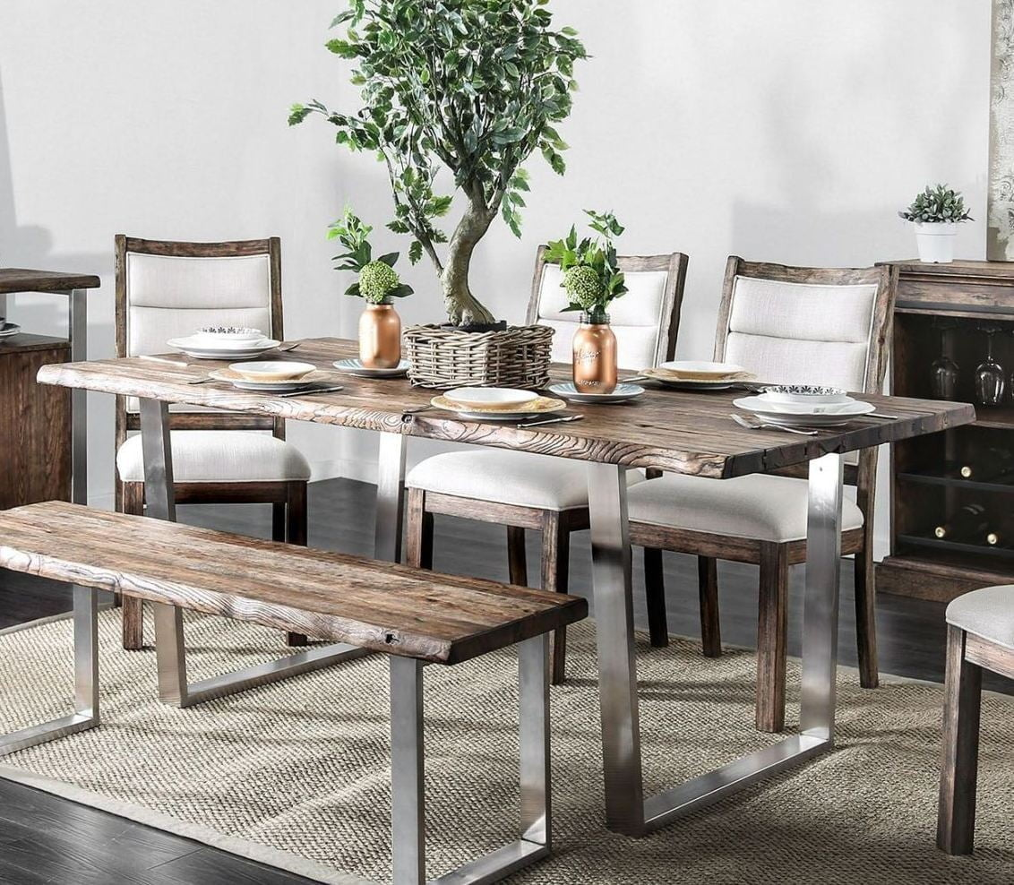 Mandy Antique Mango Dining Table From Furniture Of America | Coleman  Furniture