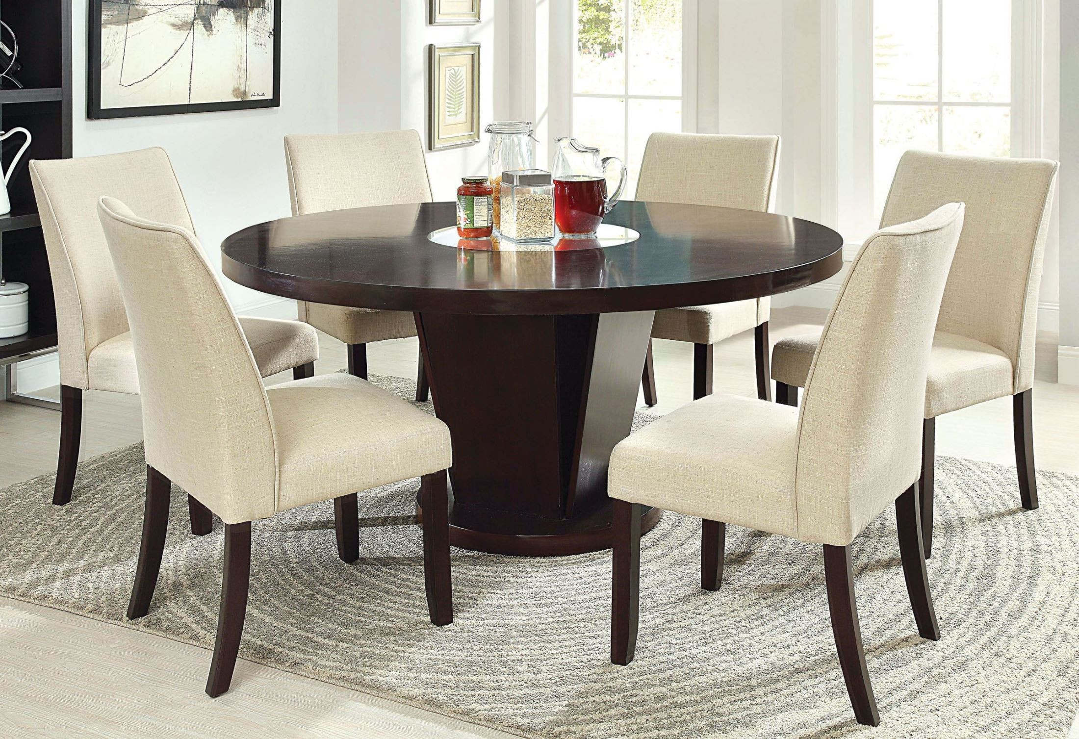Cimma Espresso Round Dining Room Set from Furniture of ...