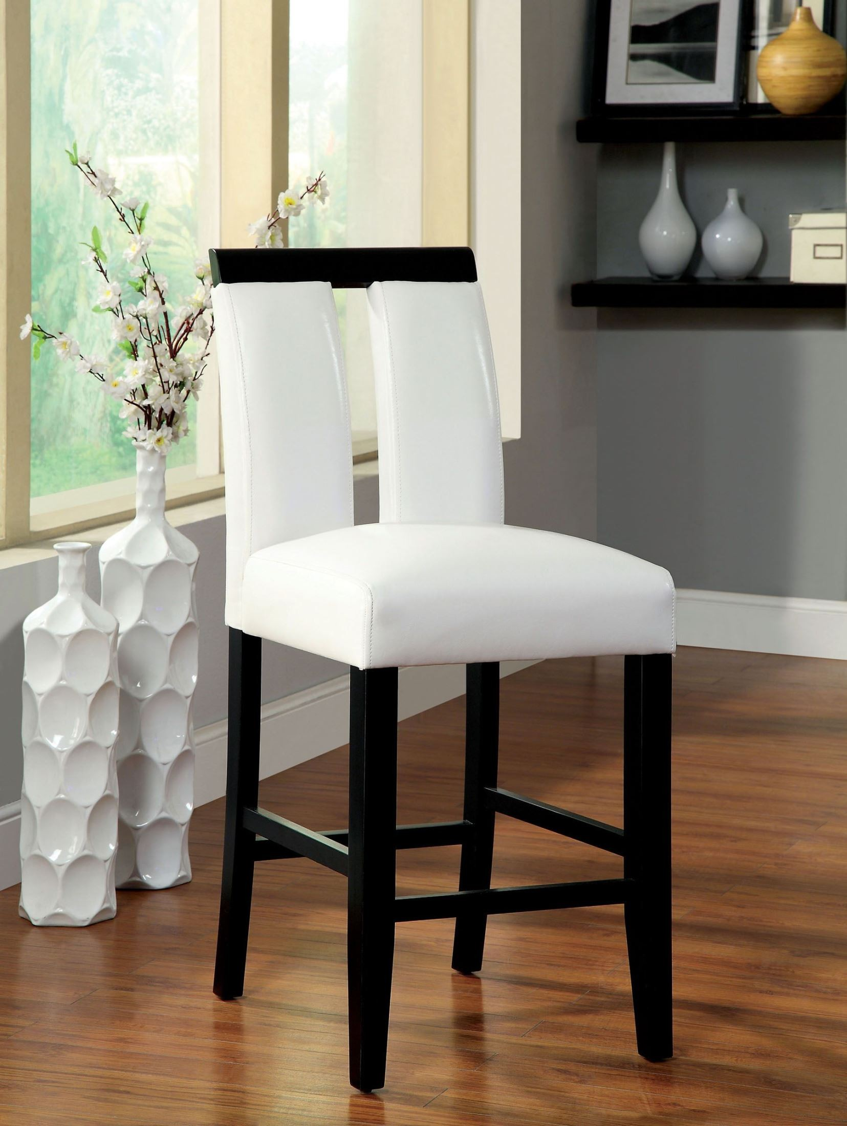 Luminar Ii Leatherette Counter Height Chair Set Of 2 From