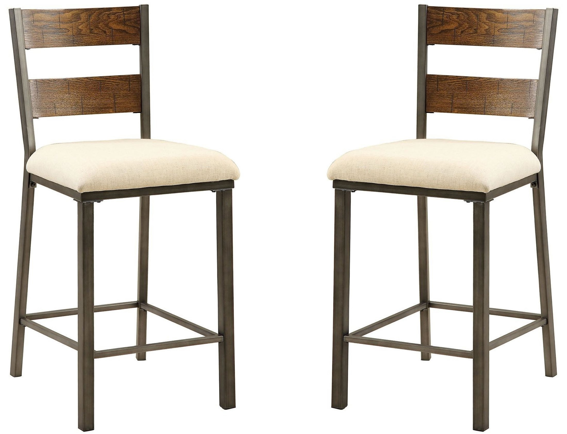 jazlyn ii weathered oak counter height chair set of 2 from f