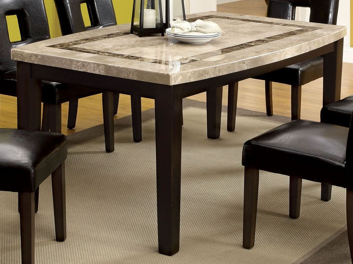 lisbon i marble top oval edge leg dining table from furniture of america cm3693ot coleman. Black Bedroom Furniture Sets. Home Design Ideas