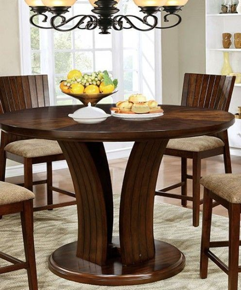 Montreal II Dark Oak Counter Height Round Dining Table