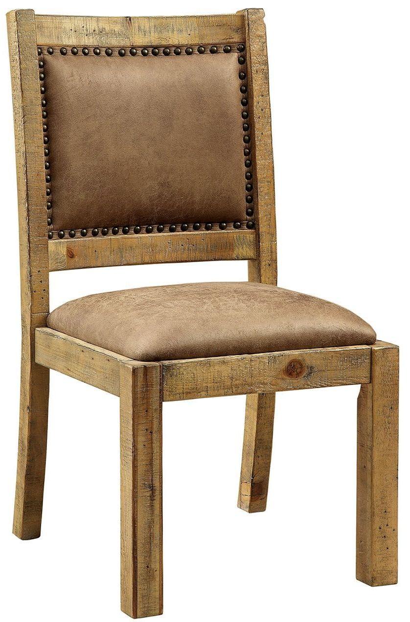 Rustic Cherry Rectangular Table Formal Dining Room Set: Gianna Rustic Pine Extendable Rectangular Dining Room Set