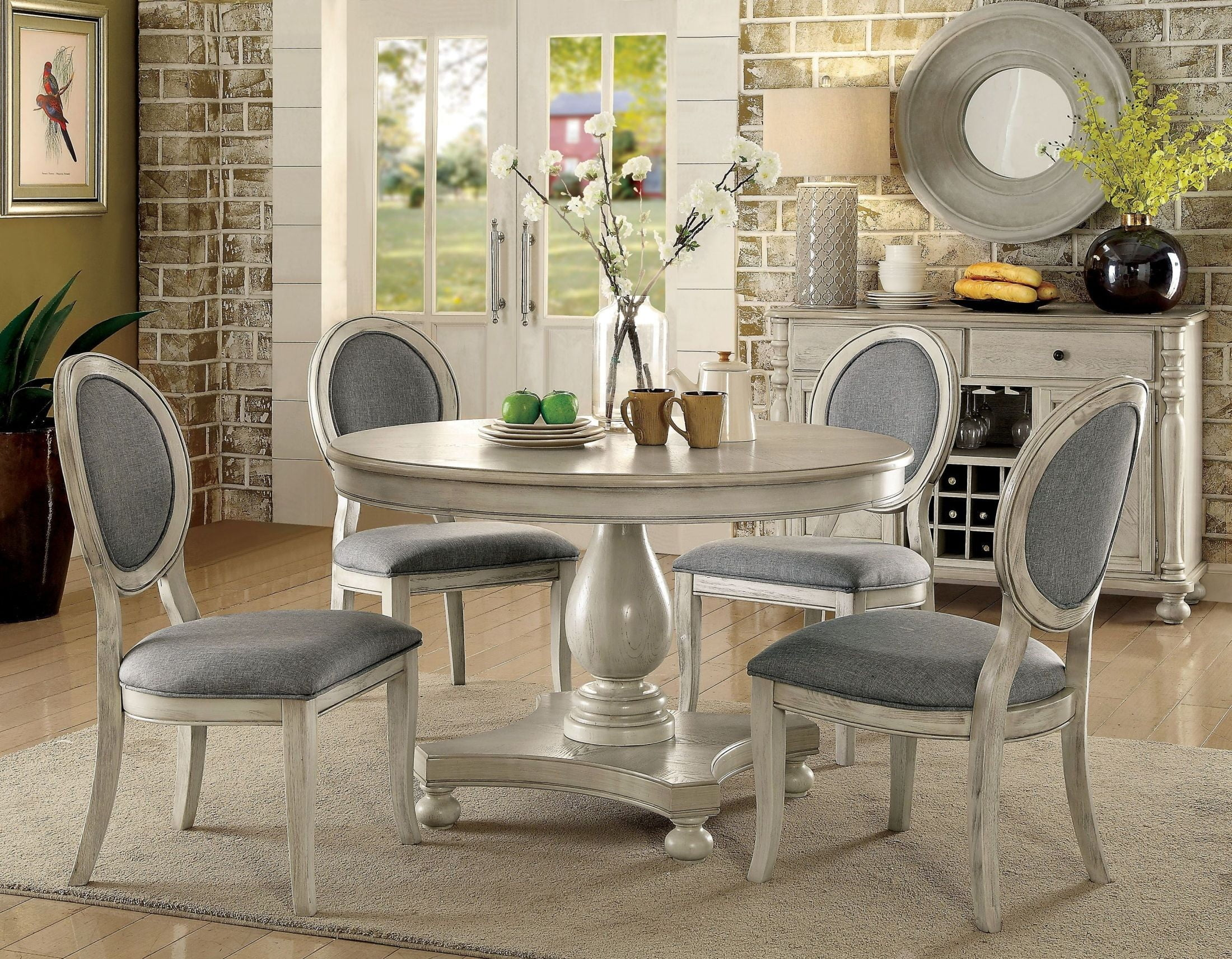 Kathryn Antique White Dining Room Set from Furniture of ...