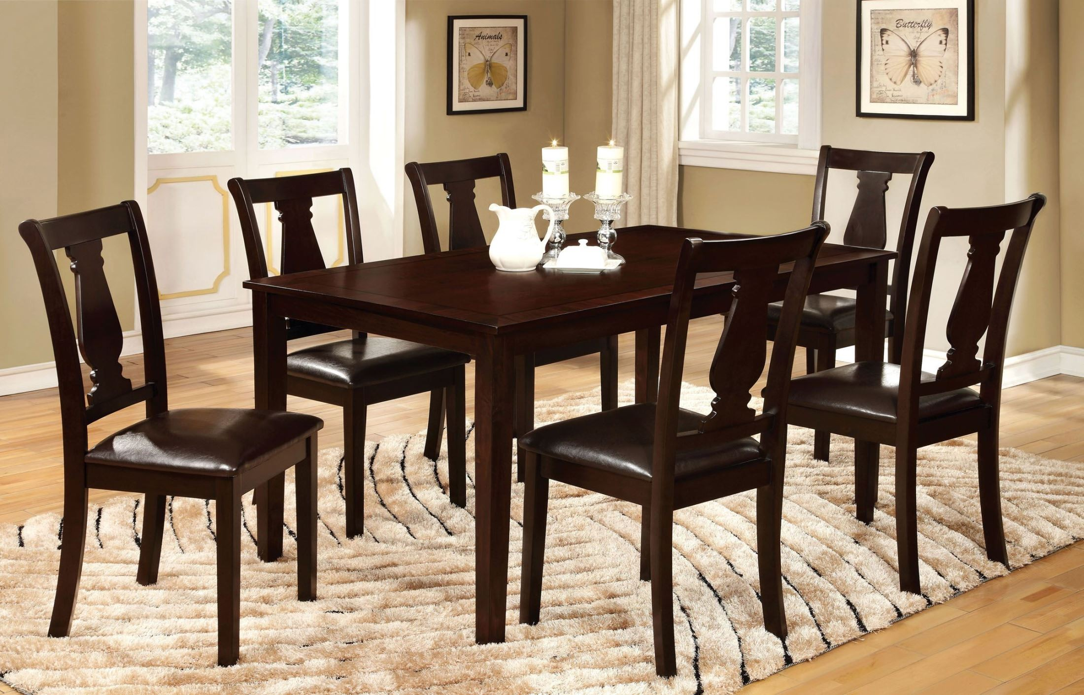 Bridle I Espresso 7 Piece Dining Table Set From Furniture