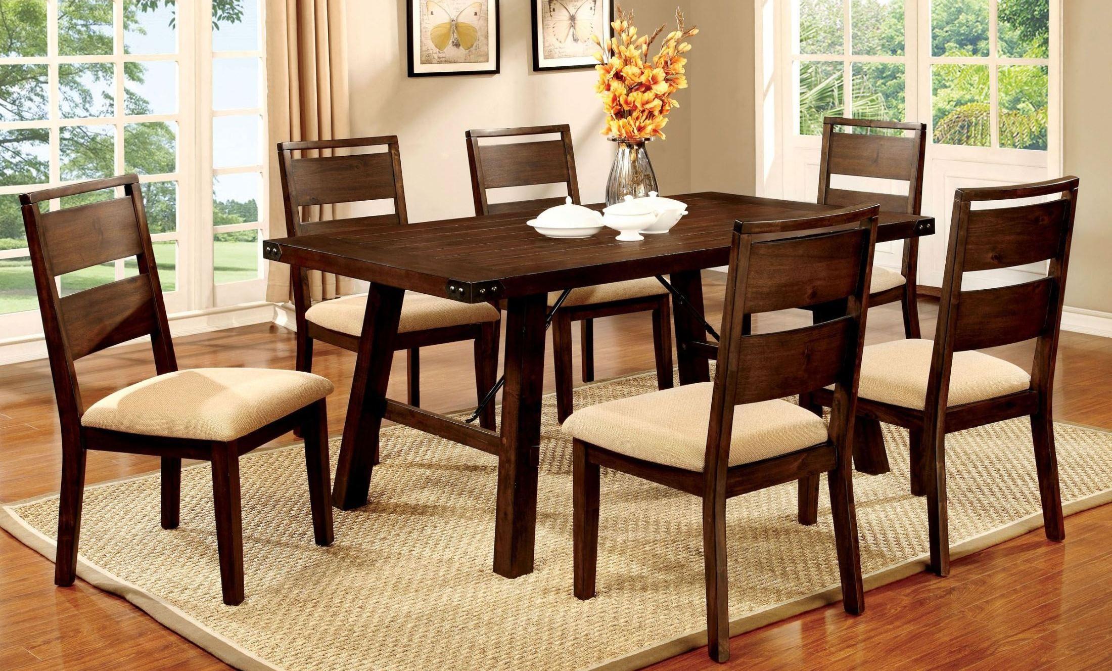 dwight dark oak rectangular dining room set from furniture of america cm3915t table coleman. Black Bedroom Furniture Sets. Home Design Ideas
