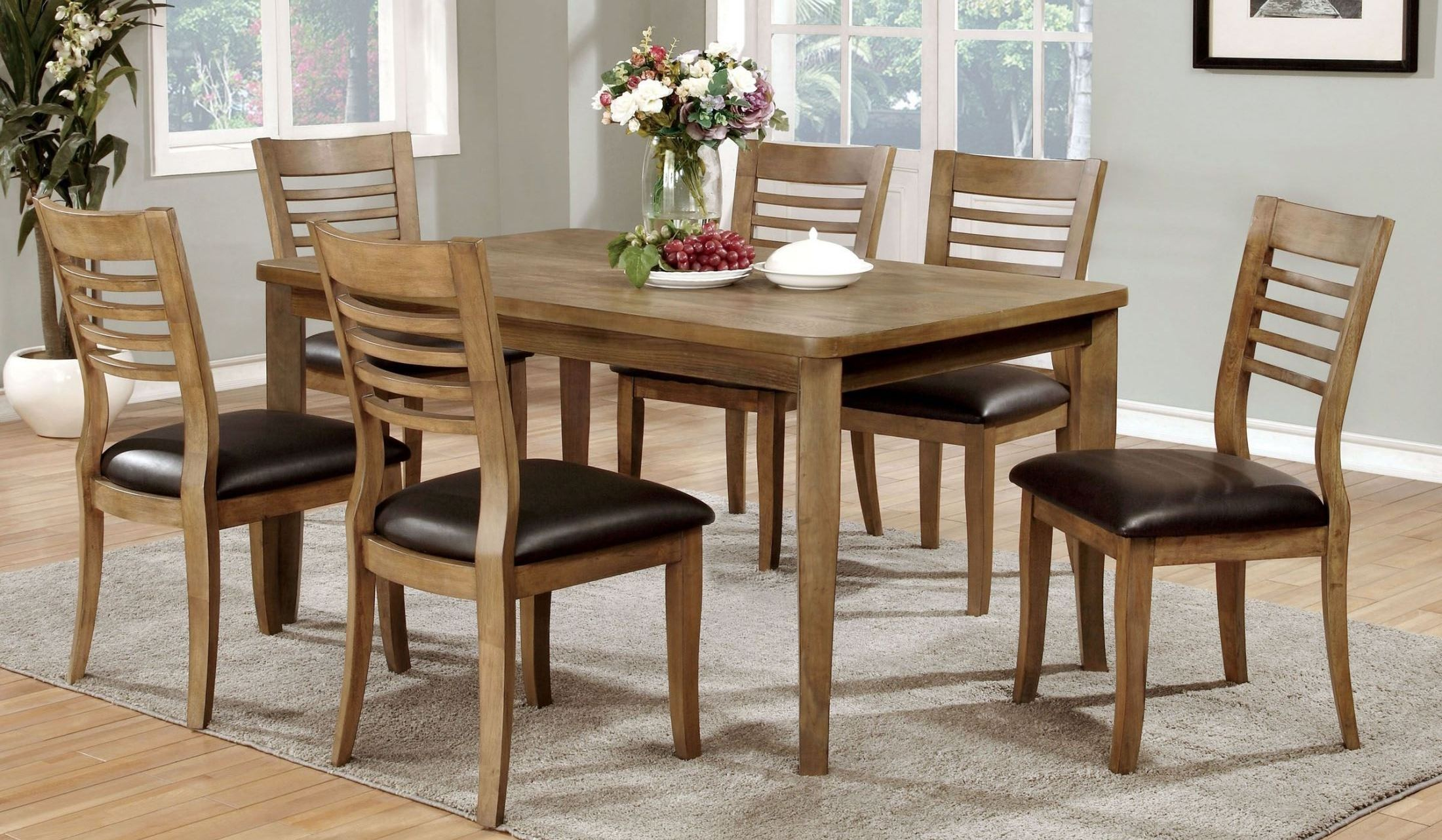 Dwight ii natural tone dining room set from furniture of for Dining room t