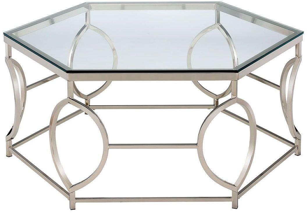 Zola chrome coffee table cm4160c furniture of america zola chrome coffee table geotapseo Images