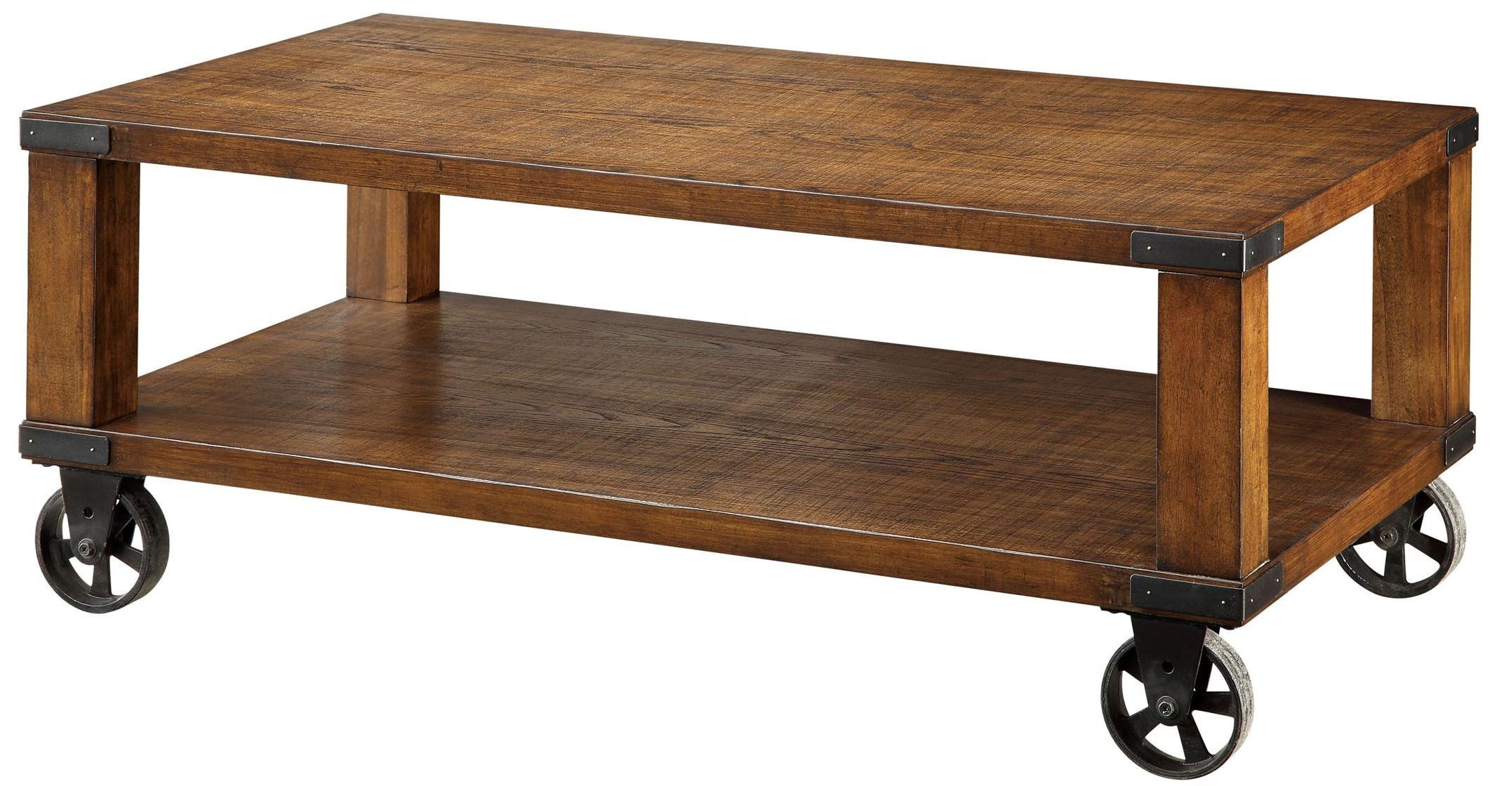 Broadus Dark Oak Coffee Table From Furniture Of America Cm4227c Coleman Furniture