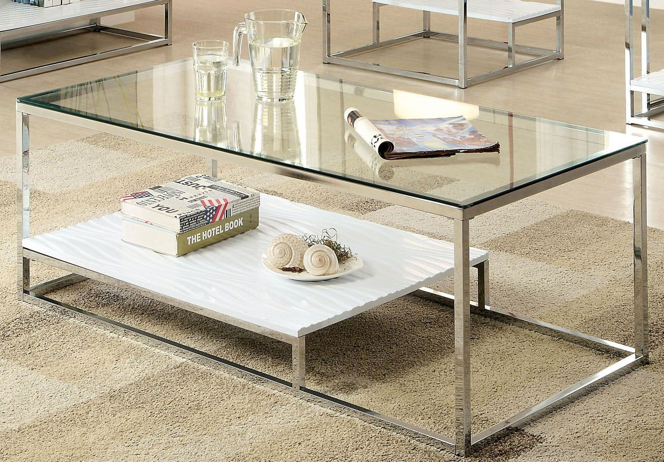 Vendi white coffee table from furniture of america - Mesas de centro modernas para sala ...