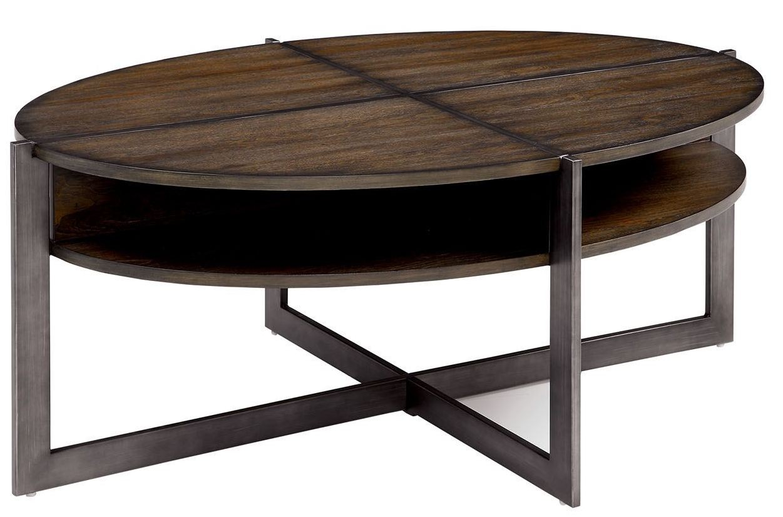 Matilda Dark Oak Coffee Table From Furniture Of America Coleman Furniture