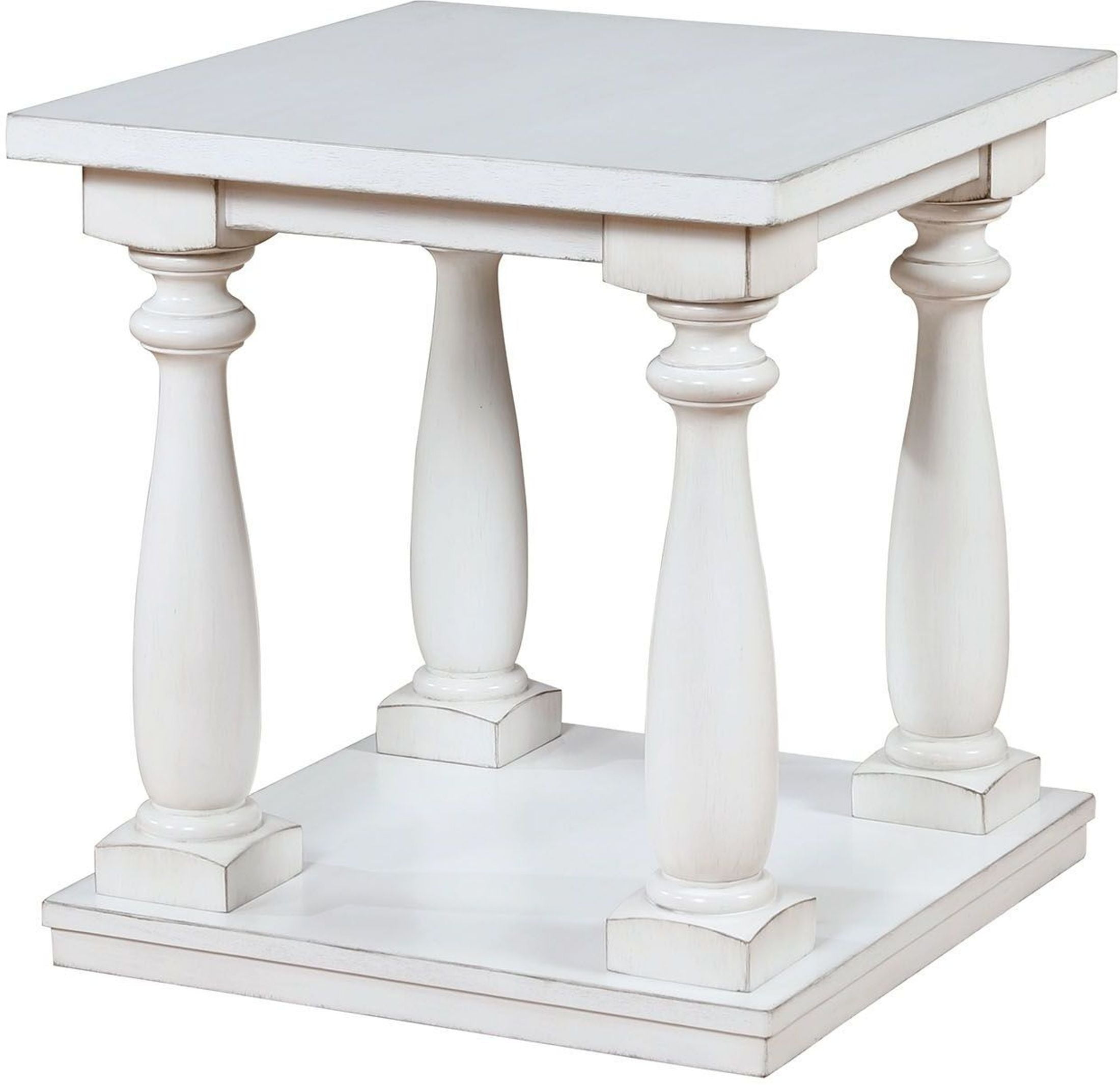 Tammie Antique White End Table From Furniture Of America Coleman  # Muebles Luan Arbo