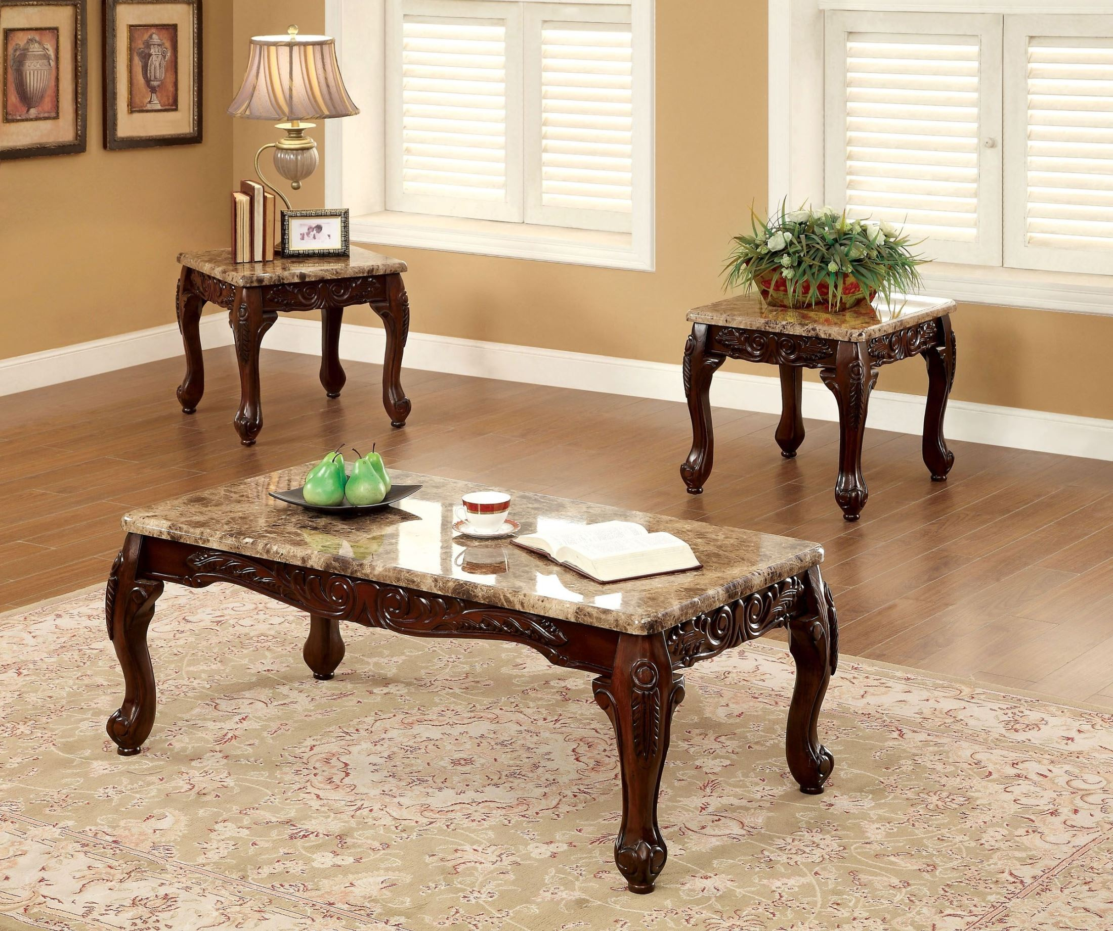 Lechester 3 Piece Occasional Table Set From Furniture Of America