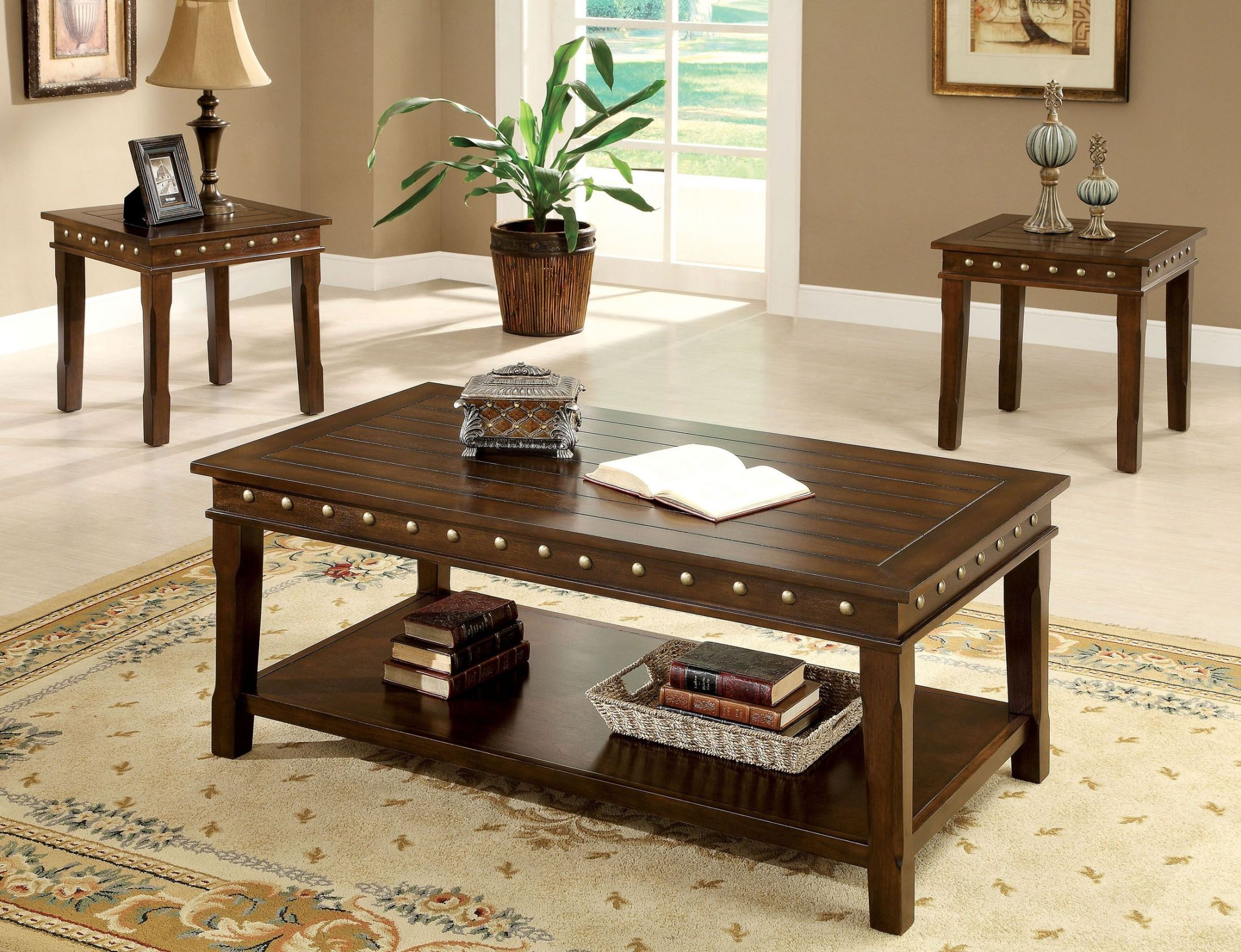 Fenwick 3 Piece Occasional Table Set : 3 piece occasional table set - pezcame.com
