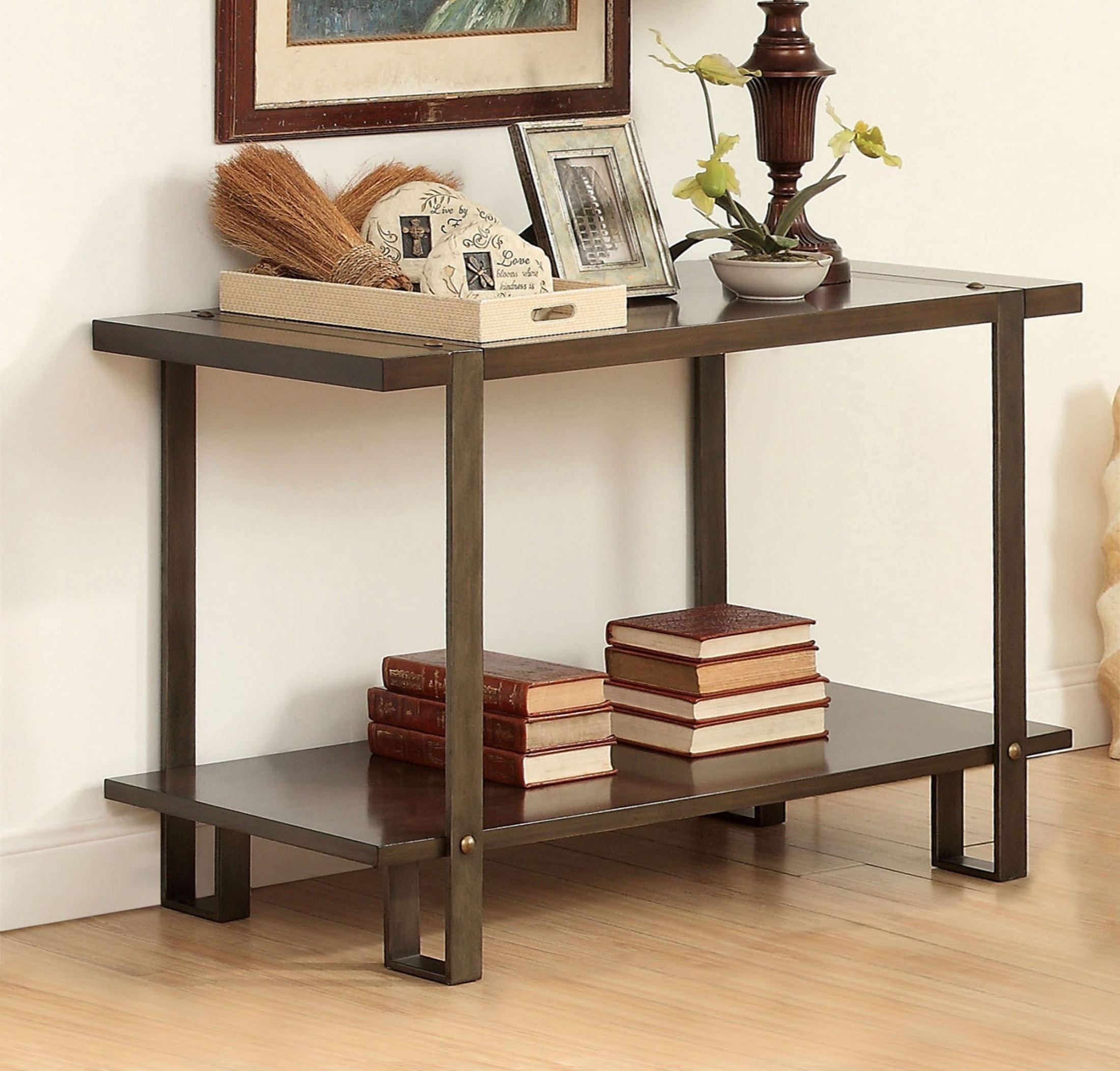Arbor Dark Oak Sofa Table From Furniture Of America Cm4638s  # Muebles Luan Arbo
