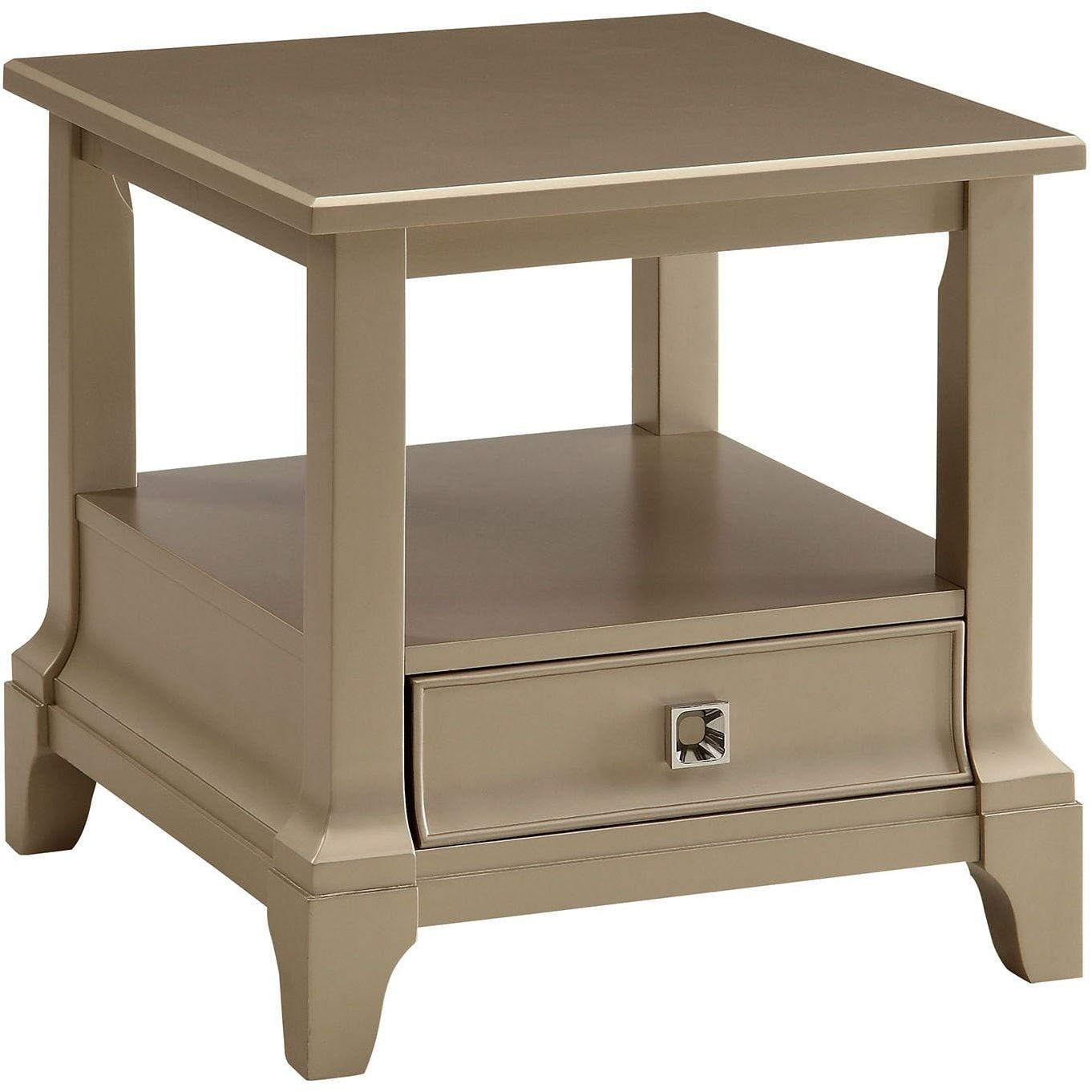 Letitia Silver End Table From Furniture Of America Coleman Furniture # Muebles Luan Arbo