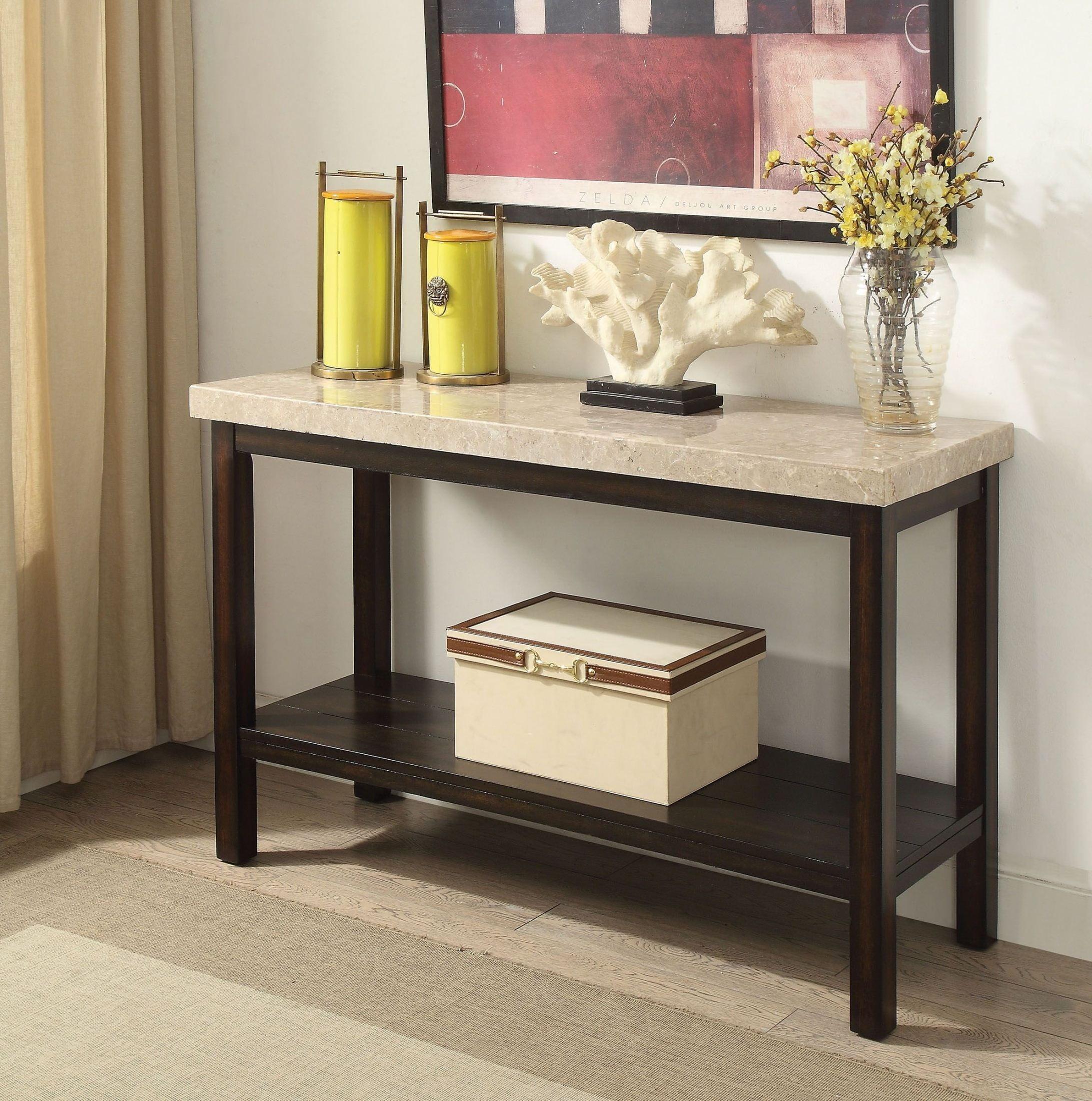 Marble Coffee Table Kijiji Calgary: Calgary Dark Walnut Sofa Table From Furniture Of America