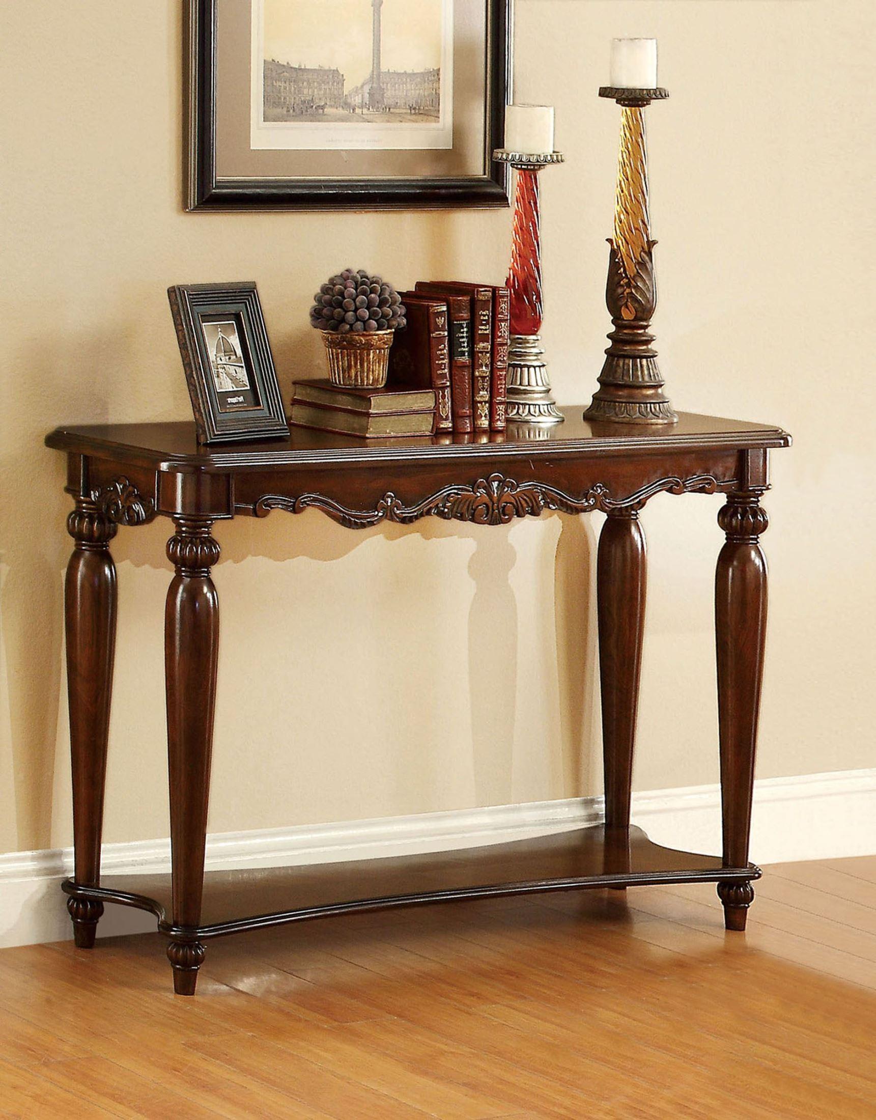 Bunbury Cherry Sofa Table from Furniture of America ...
