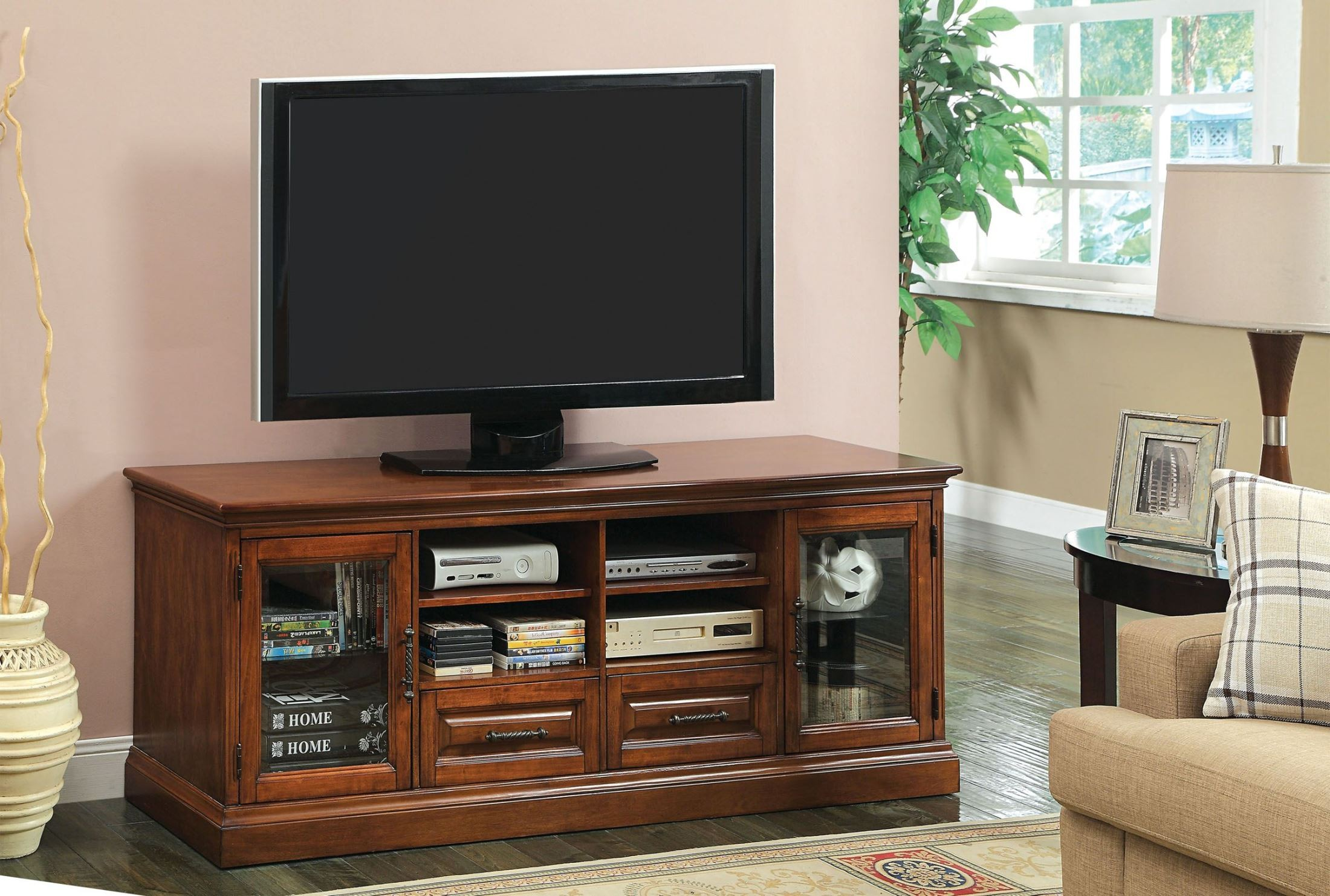 Alamanor Antique Oak 72 Quot Tv Console From Furniture Of