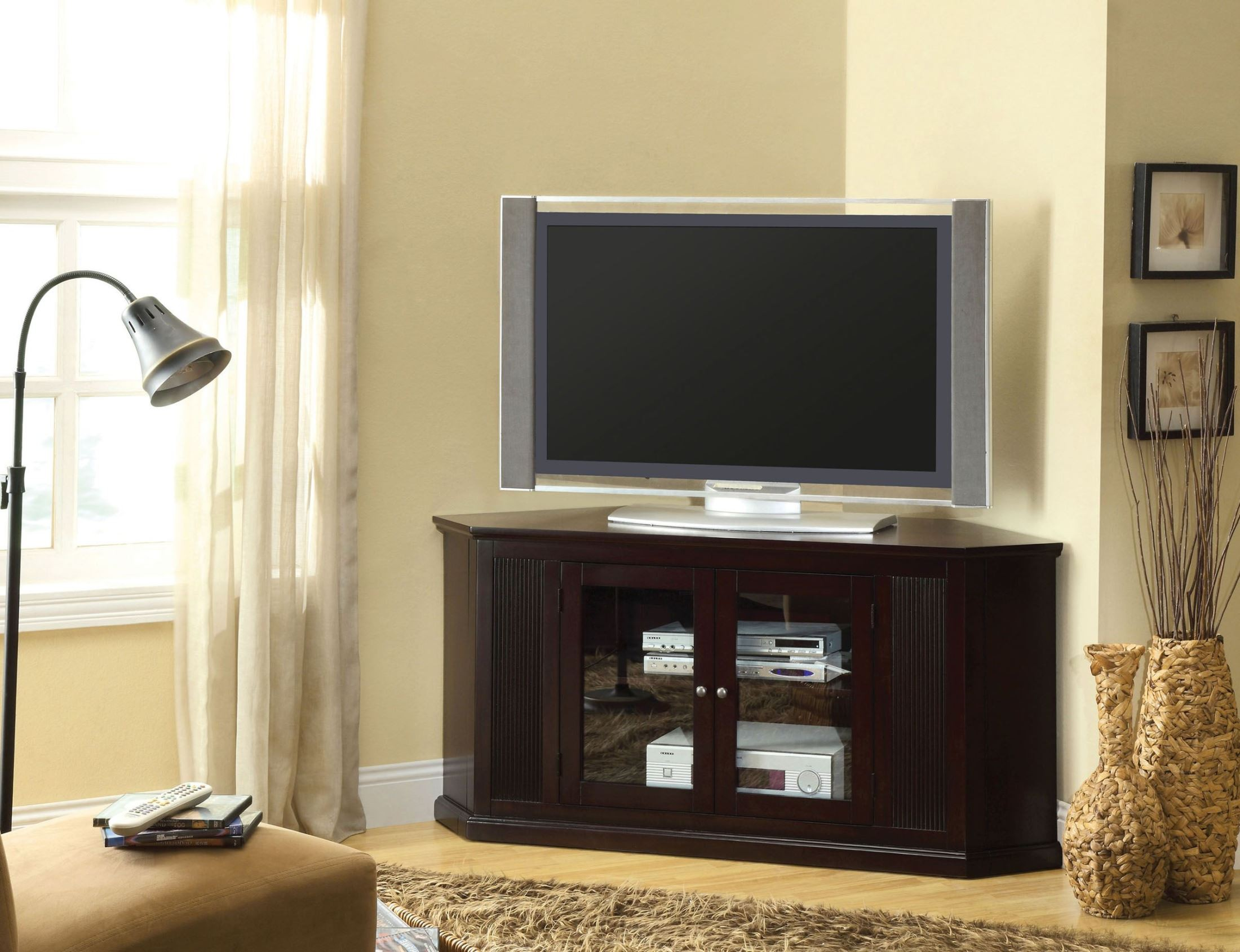 rockwell 60 tv console from furniture of america cm5352. Black Bedroom Furniture Sets. Home Design Ideas